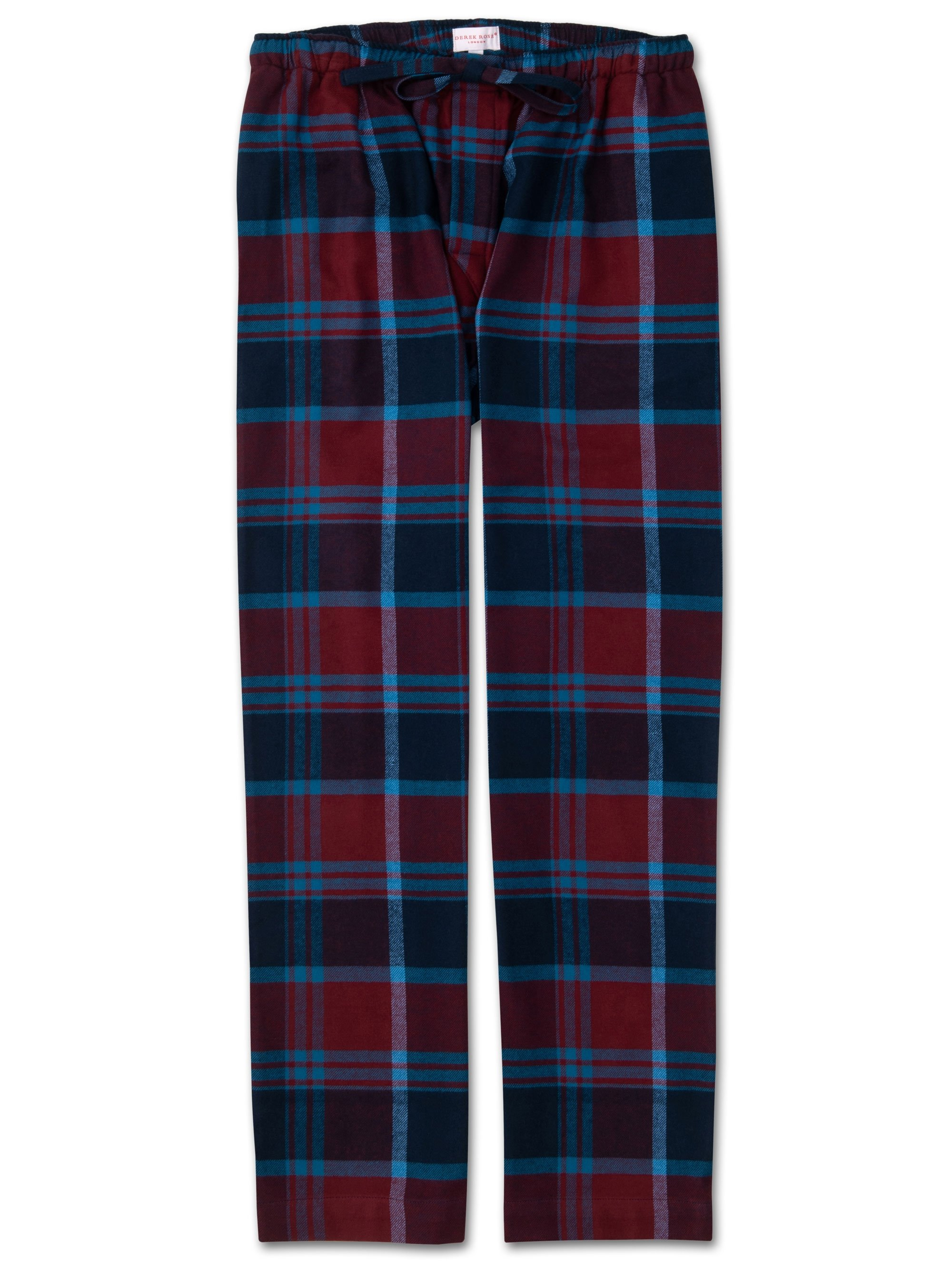 Men's Lounge Trousers Kelburn 7 Brushed Cotton Check Multi
