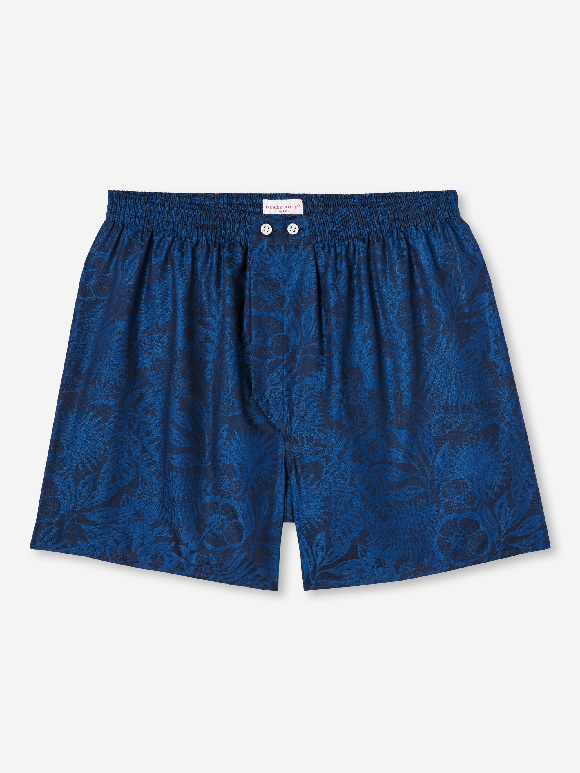 Men's Classic Fit Boxer Shorts Paris 19 Cotton Jacquard Navy