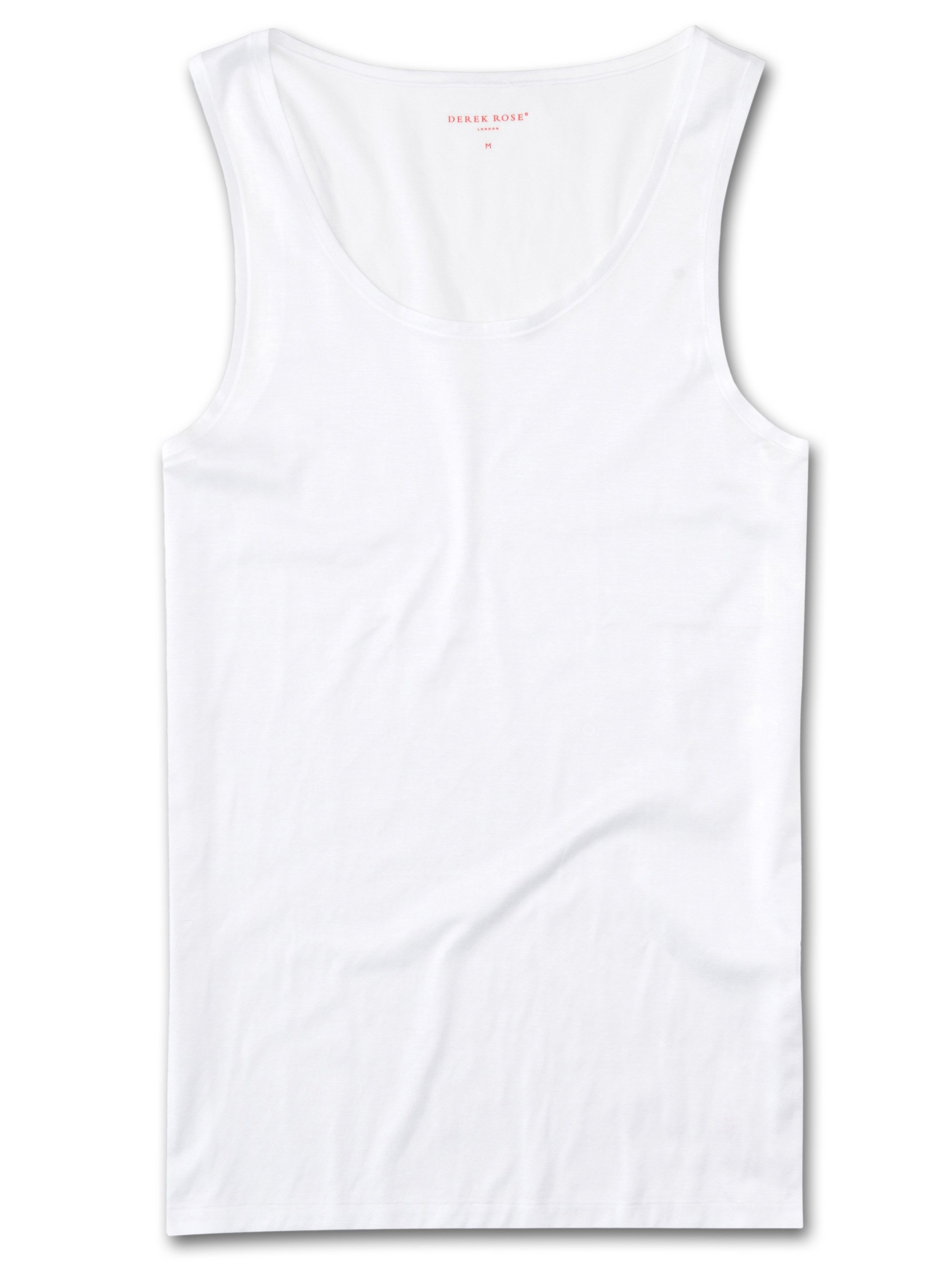 Men's Underwear Vest Lewis Double Mercerised Cotton White