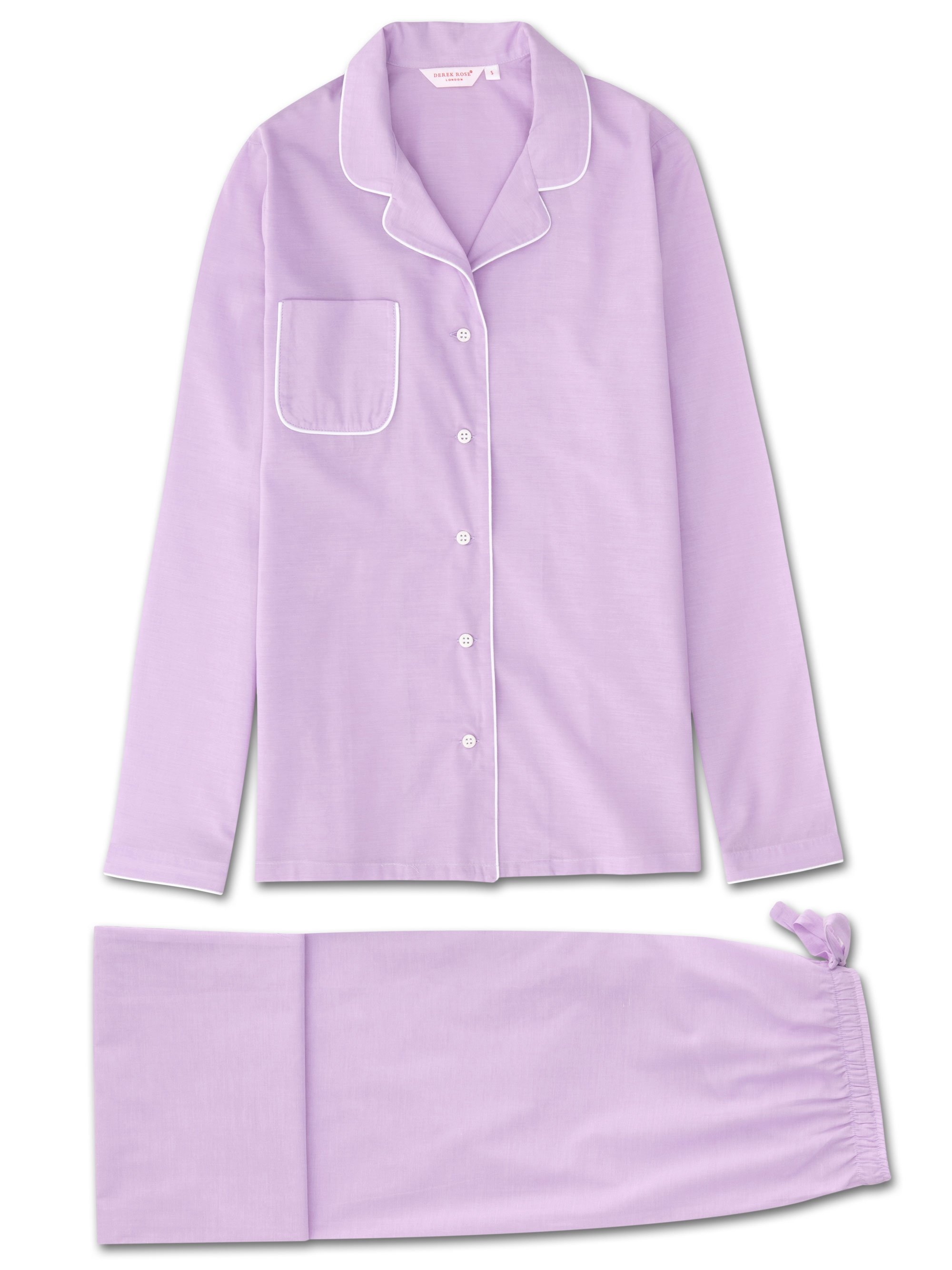 Women's Pyjamas Amalfi Cotton Batiste Lilac