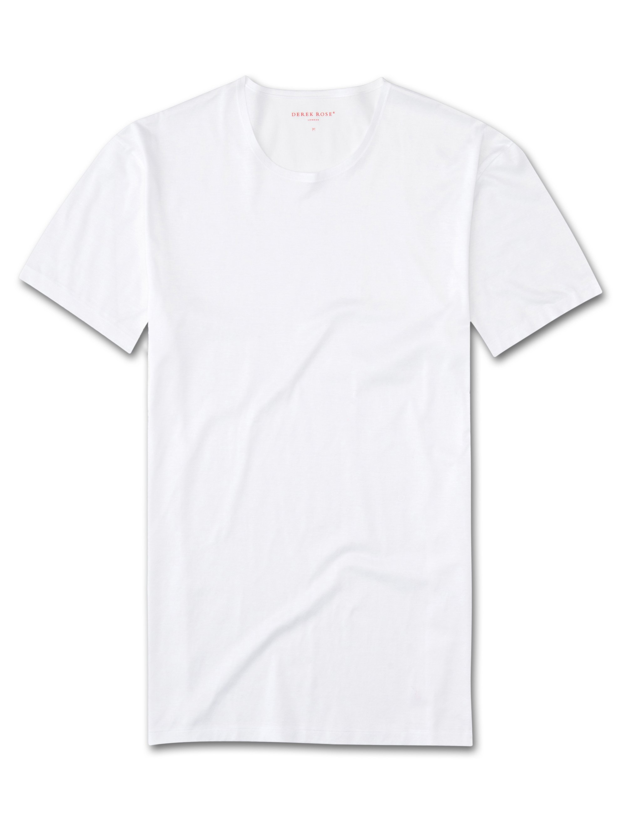 Men's Underwear Crew-Neck T-Shirt Lewis Double Mercerised Cotton White