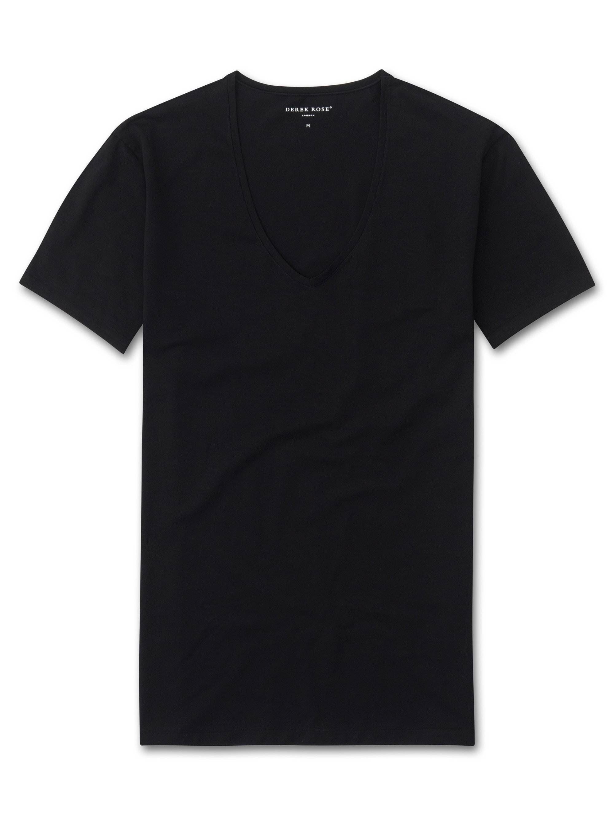 Men's Underwear V-Neck T-Shirt Jack Pima Cotton Stretch Black