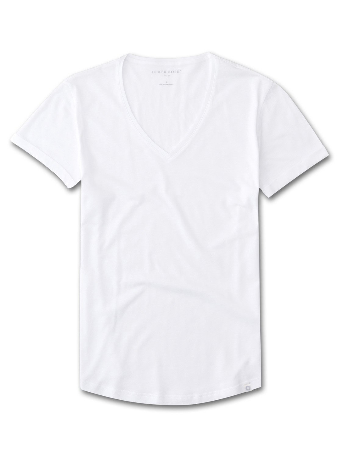Women's V-Neck Leisure T-Shirt Riley Pima Cotton White