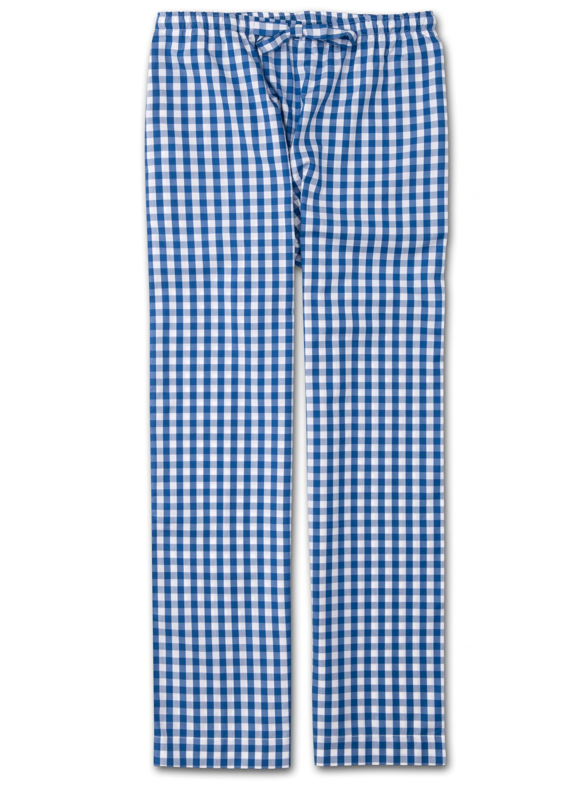Women's Lounge Trousers Barker 26 Cotton Check Blue