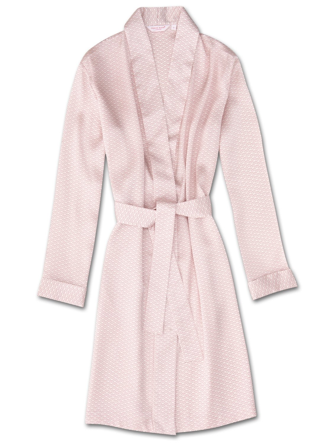 Women's Dressing Gown Brindisi 26 Pure Silk Satin White