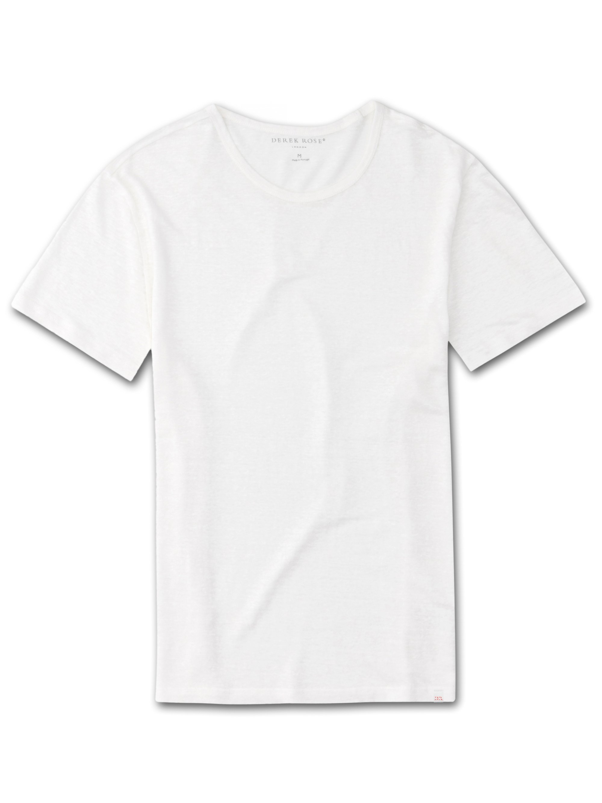 Men's Linen Short Sleeve T-Shirt Jordan Pure Linen White