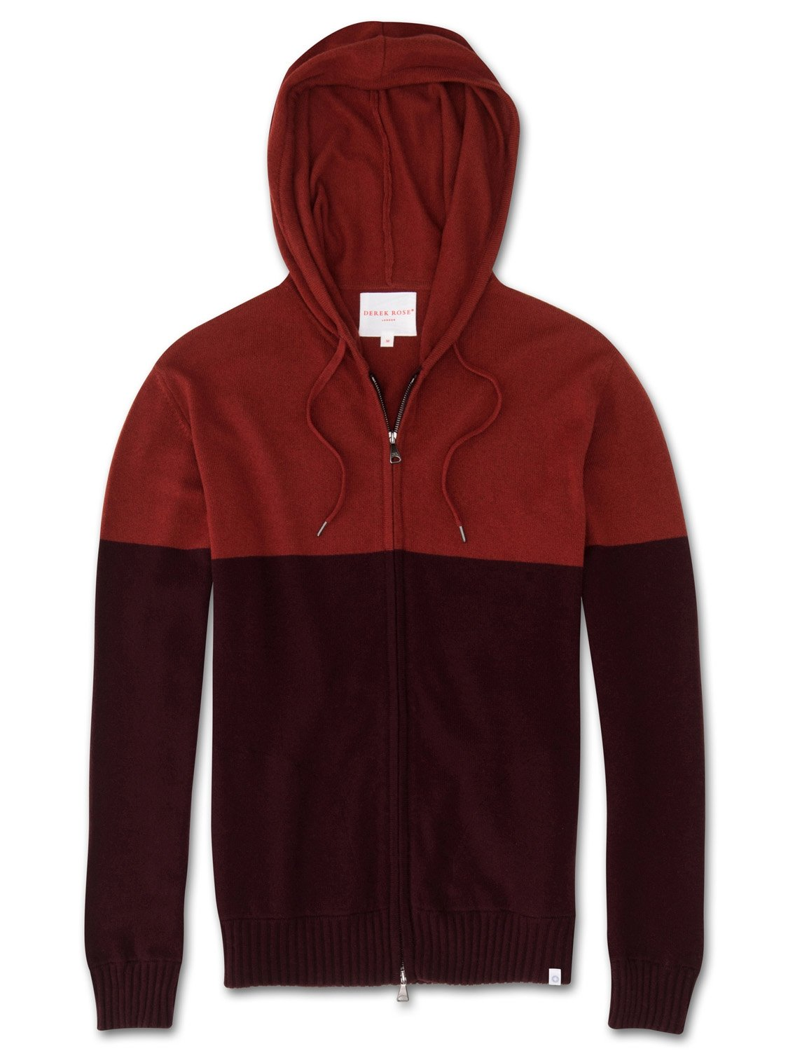 Men's Cashmere Hoodie Francis Pure Cashmere Burgundy