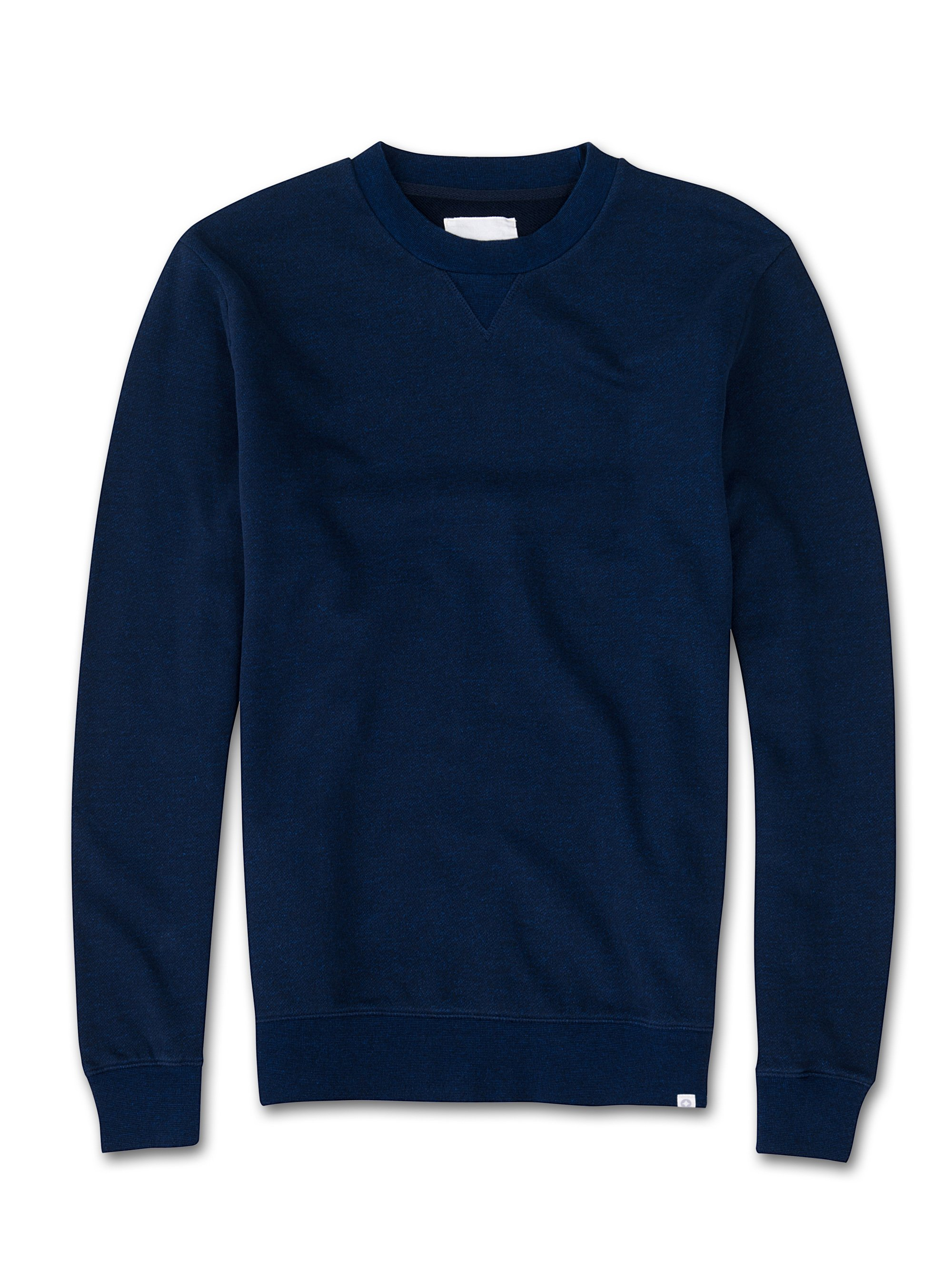 Men's Sweatshirt Devon Loopback Cotton Navy