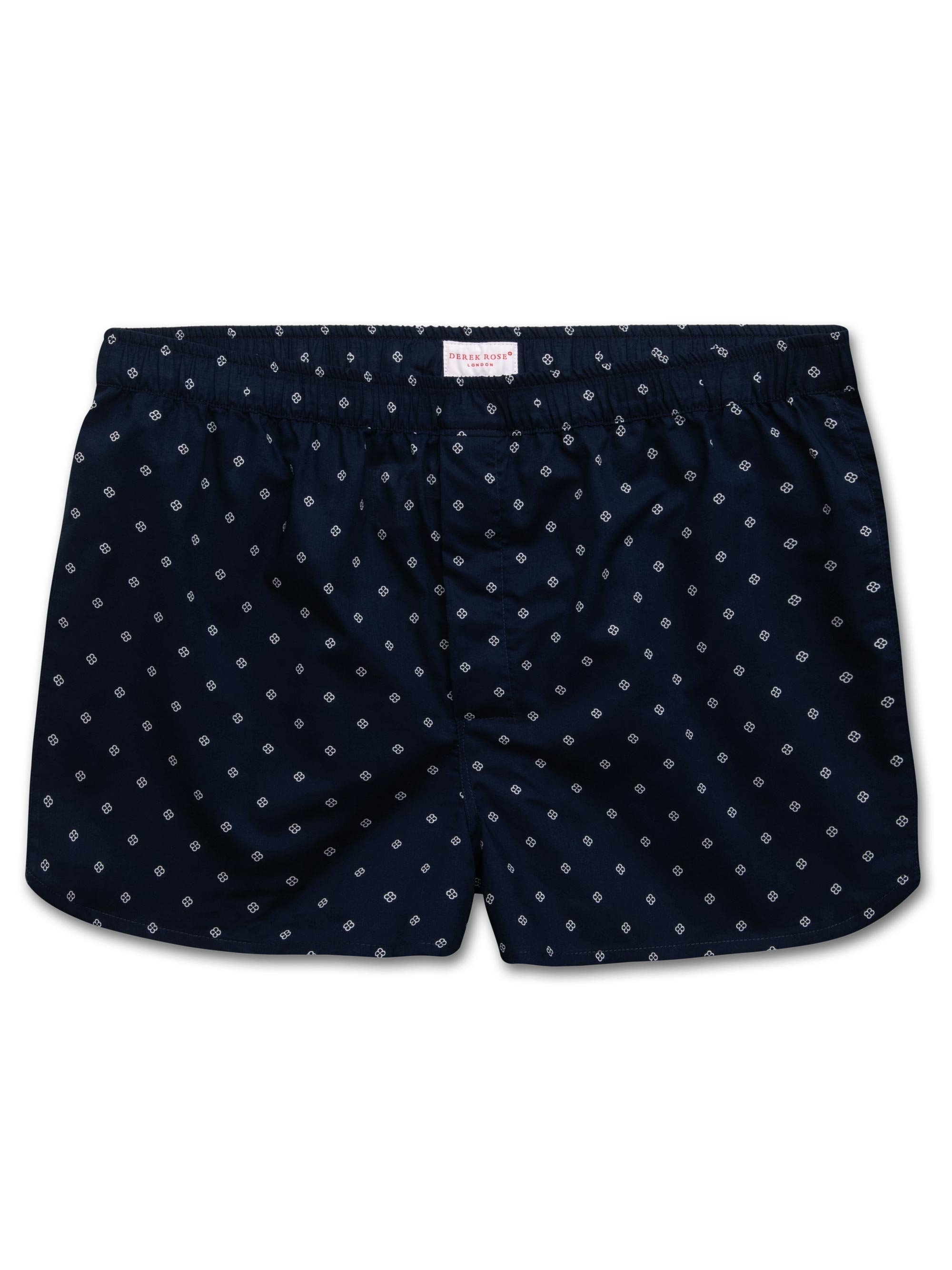 Men's Modern Fit Boxer Shorts Nelson 71 Cotton Batiste Navy