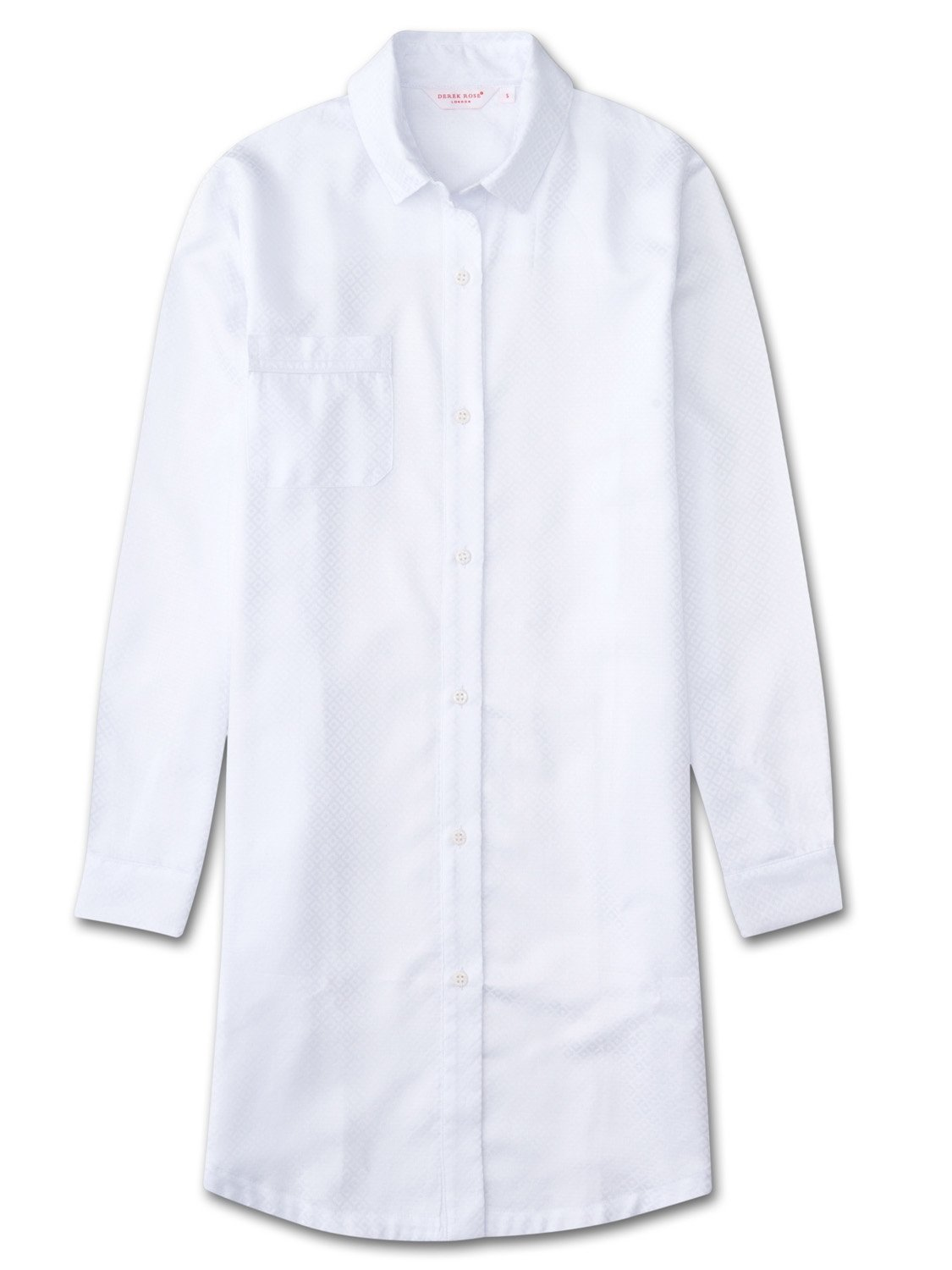 Women's Nightshirt Kate 2 Cotton Jacquard White