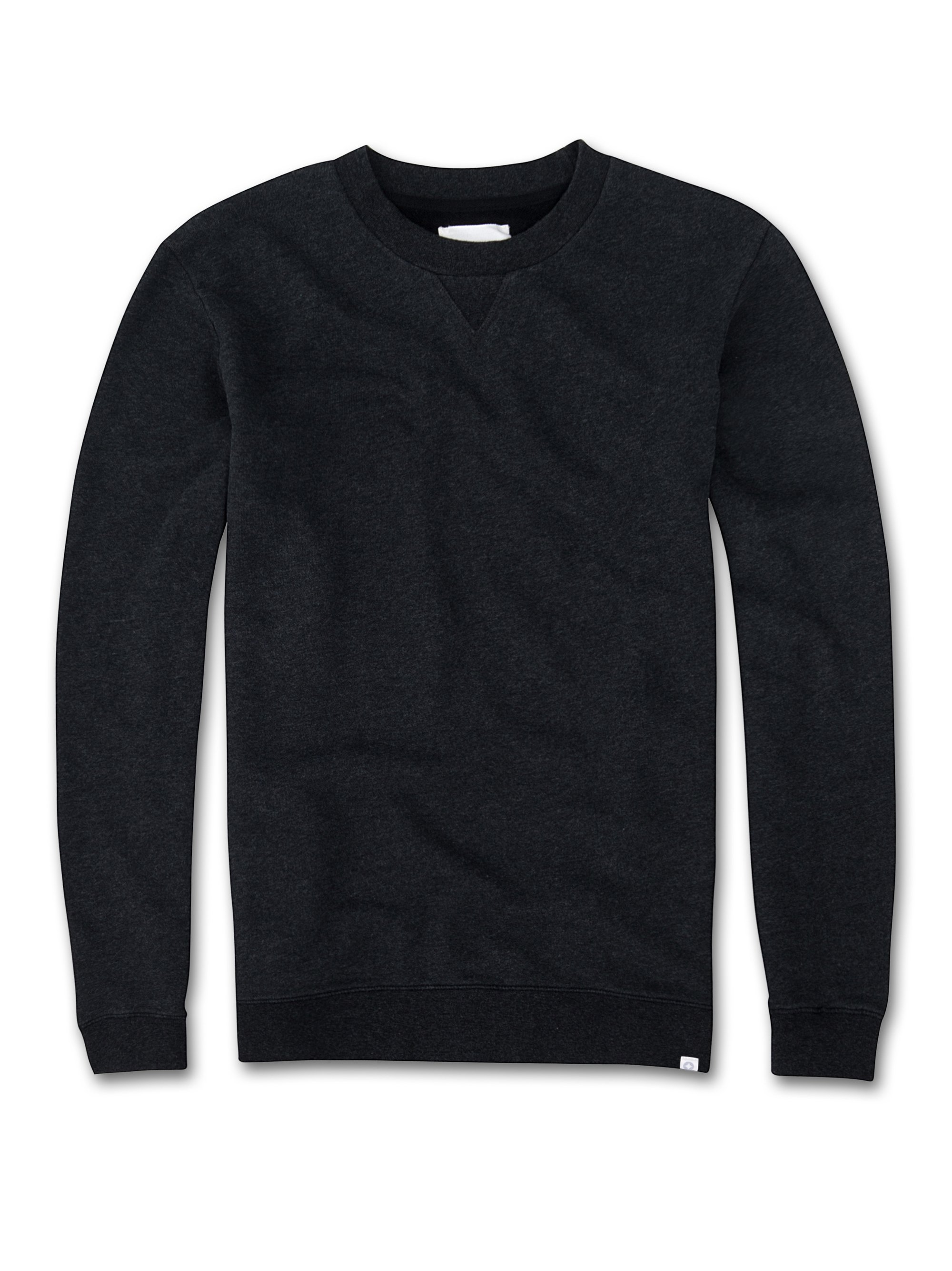 Men's Sweatshirt Devon Loopback Cotton Charcoal