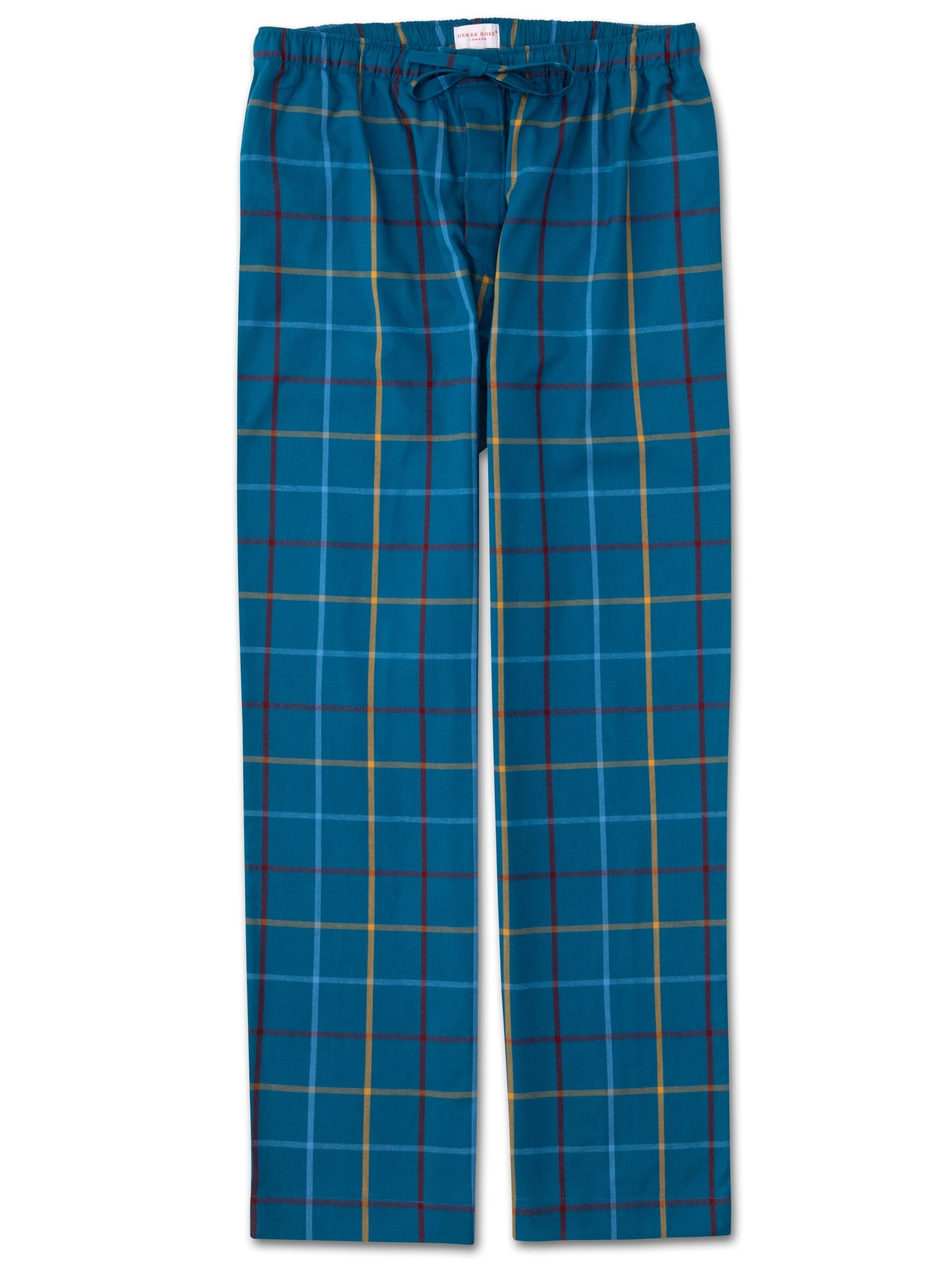 Men's Lounge Trousers Ranga 37 Brushed Cotton Check Multi