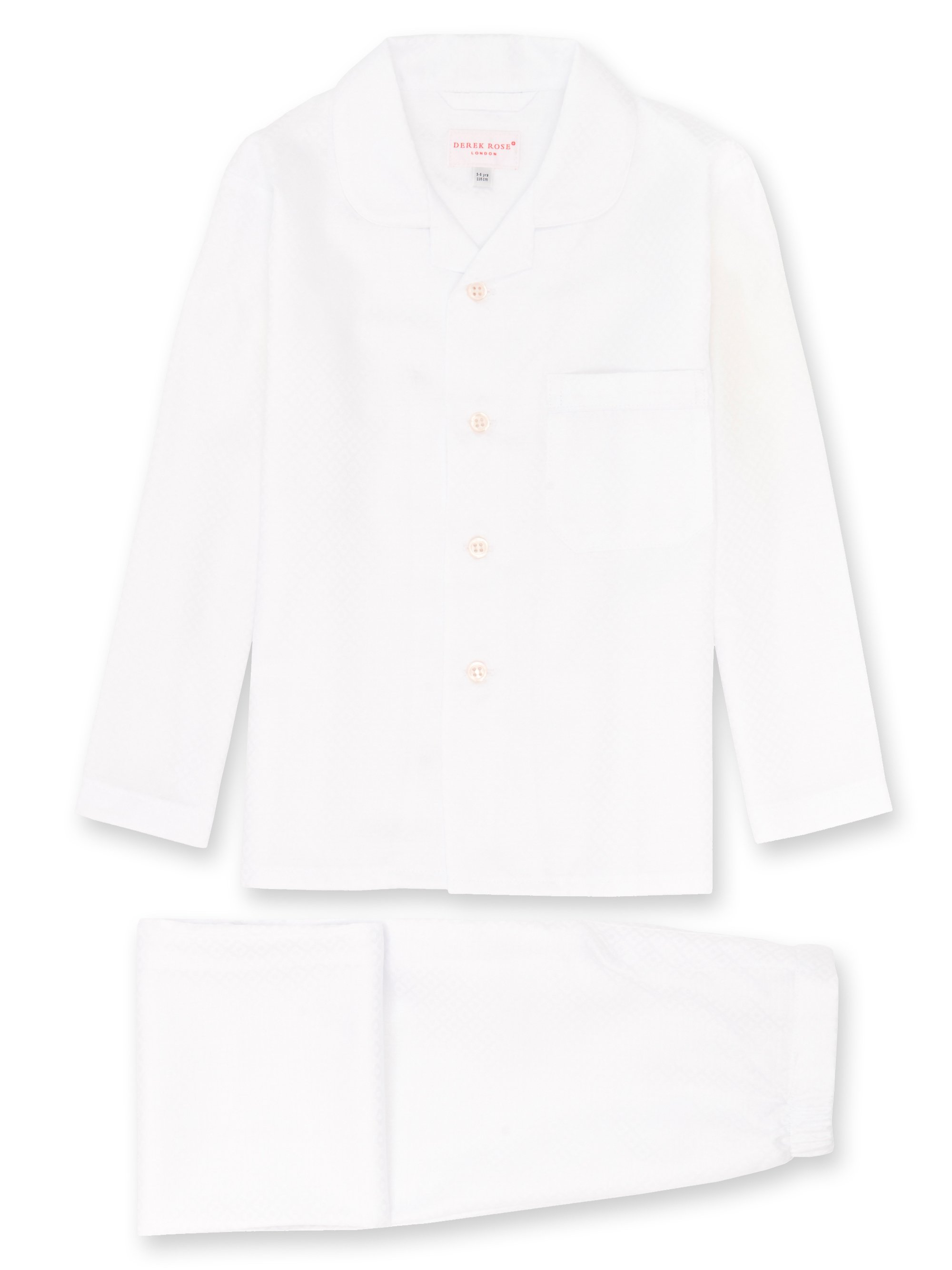 Girls' Pyjamas Kate 2 Cotton Jacquard White