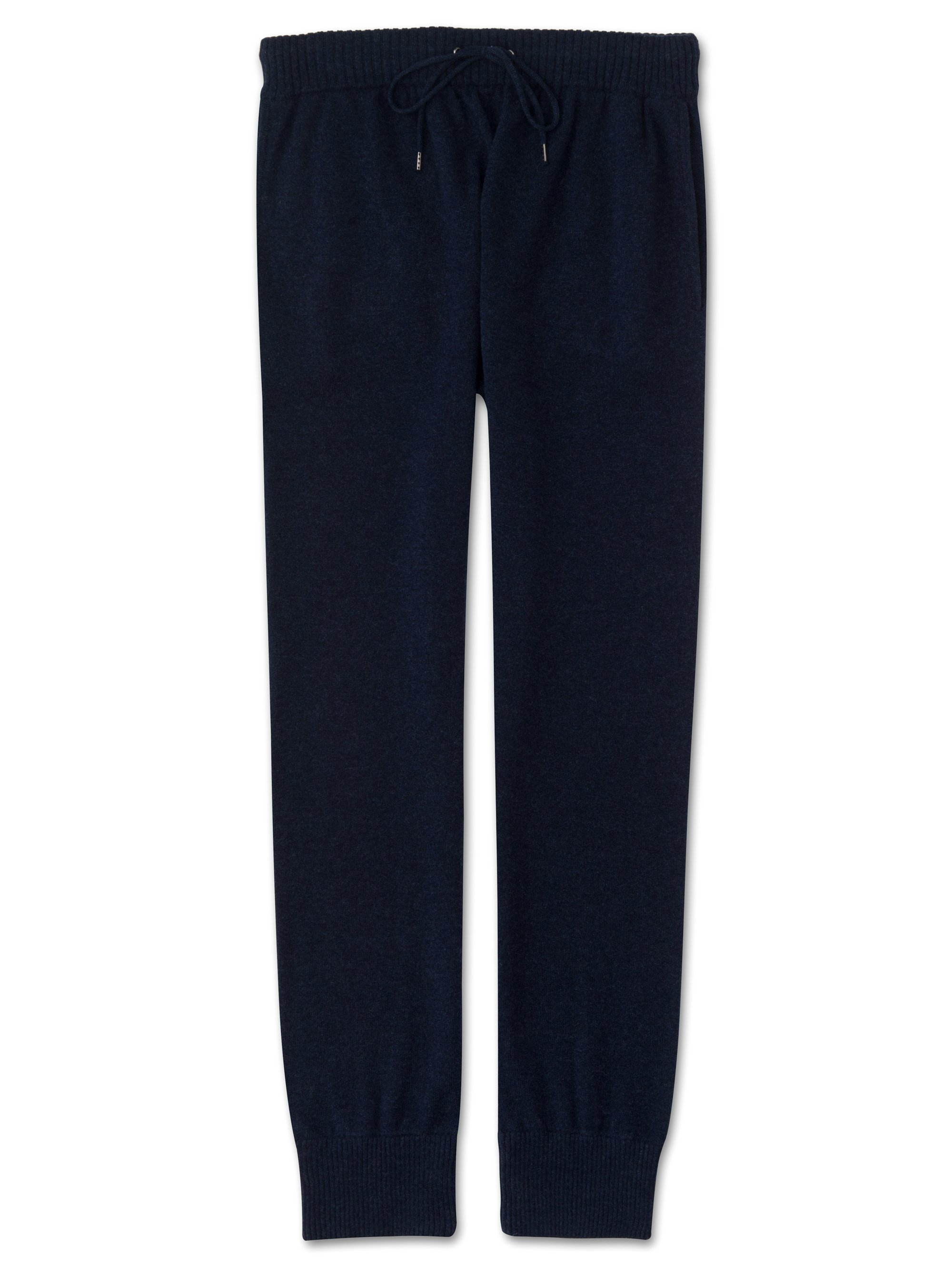 Men's Cashmere Track Pants Finley Pure Cashmere Midnight