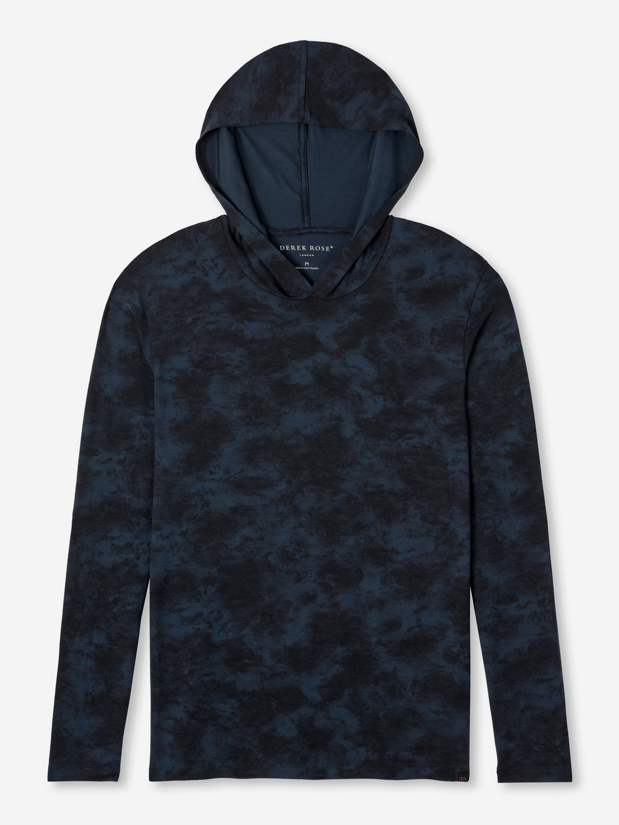 Men's Jersey Pullover Hoodie London 4 Micro Modal Stretch Navy