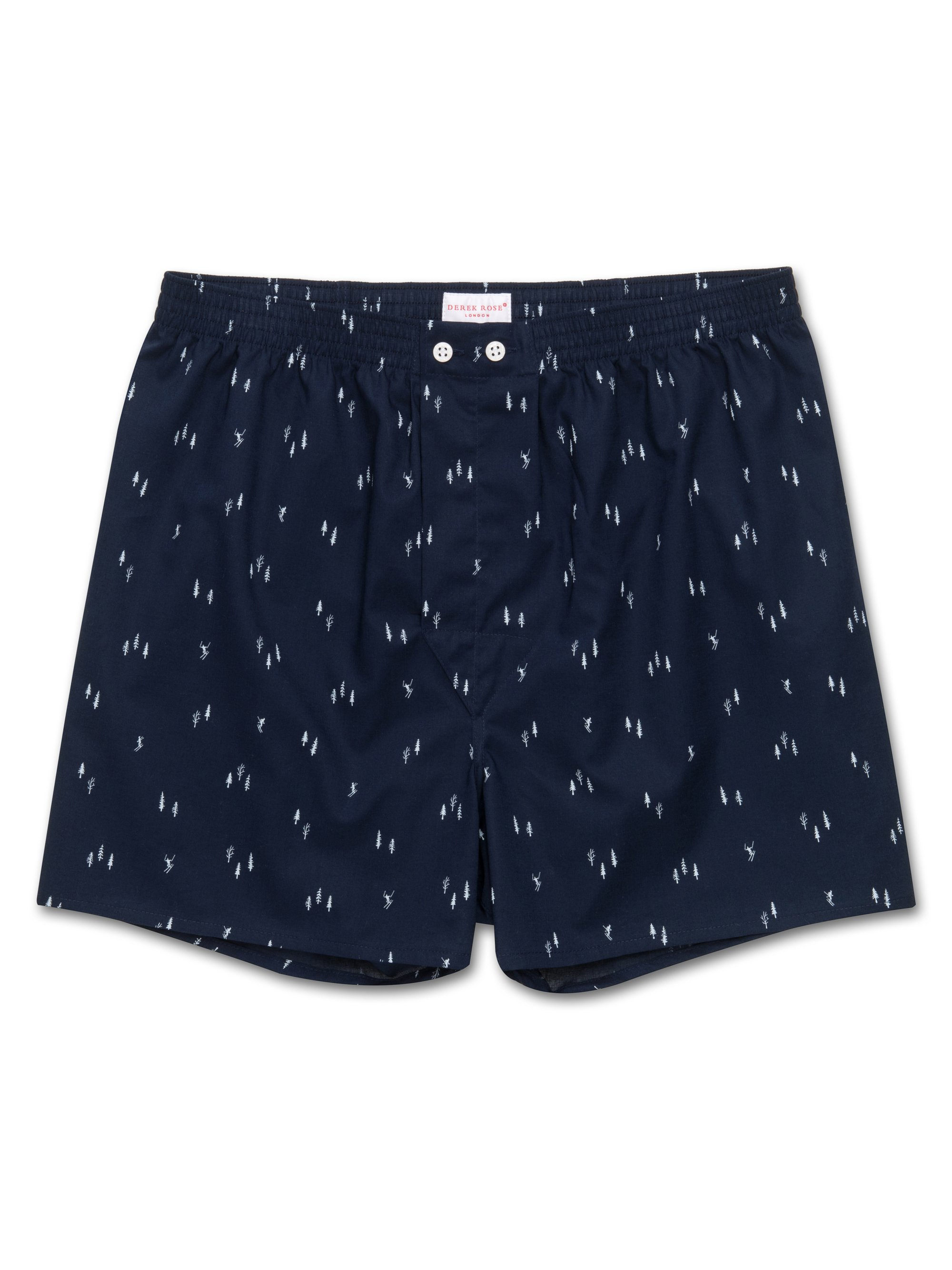 Men's Classic Fit Boxer Shorts Nelson 55 Cotton Batiste Navy