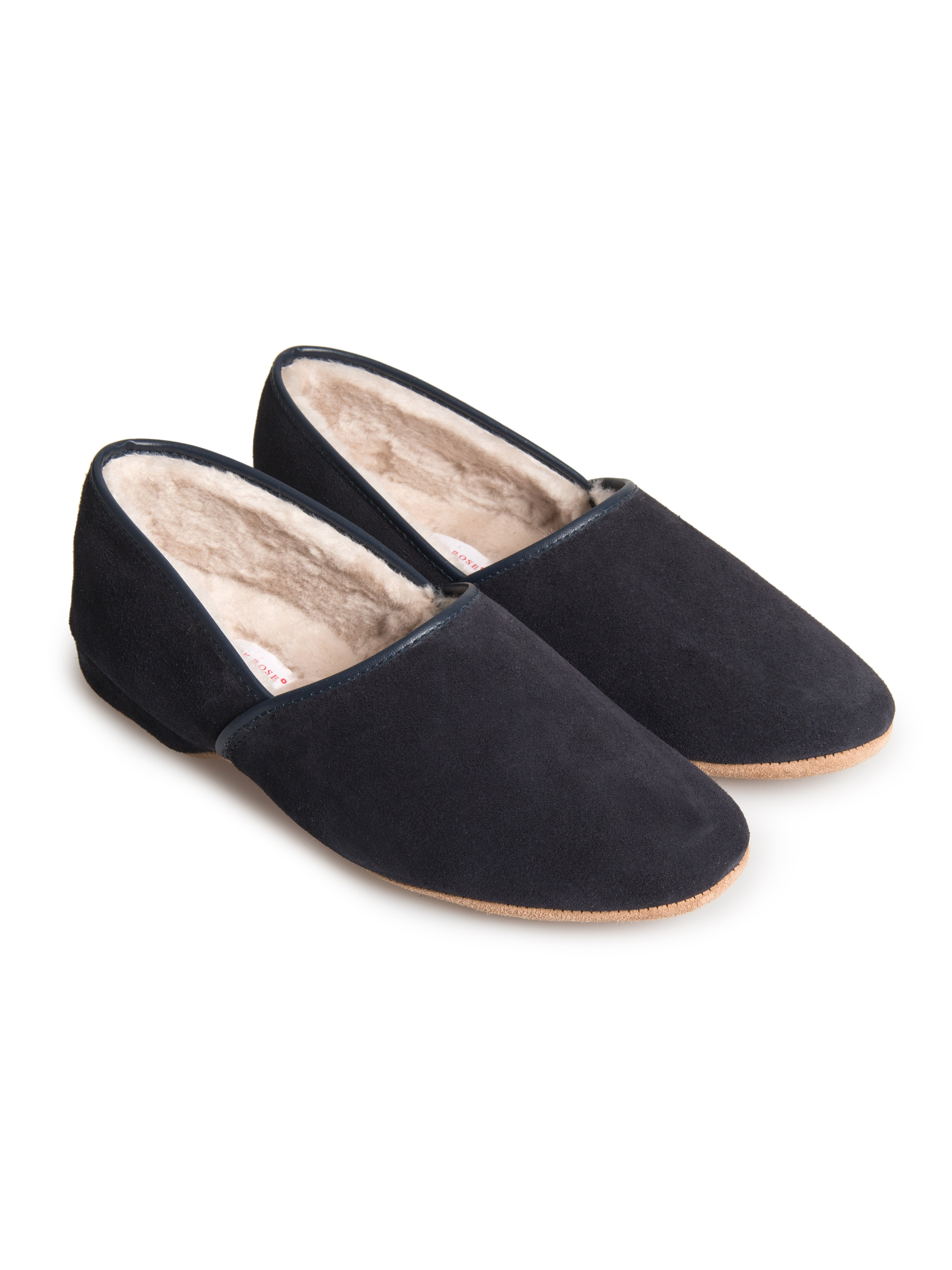 Men's Closed-Back Slipper Crawford Suede Sheepskin Navy