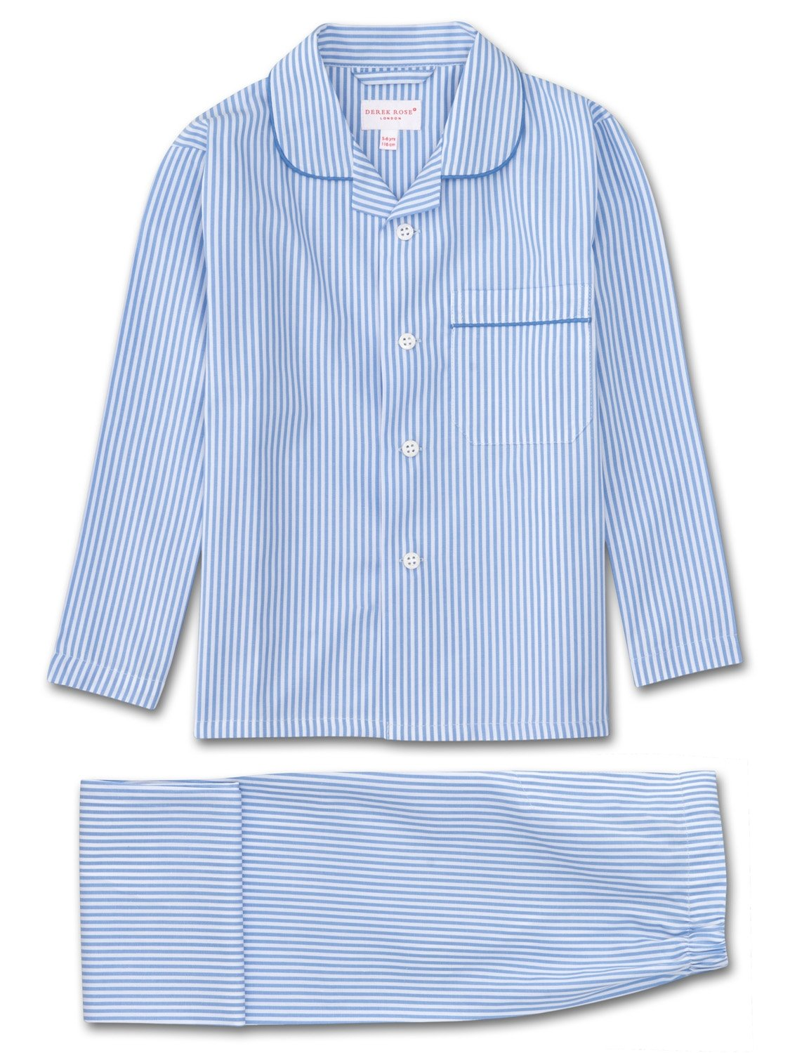 Boys' Pyjamas James Cotton Stripe Blue