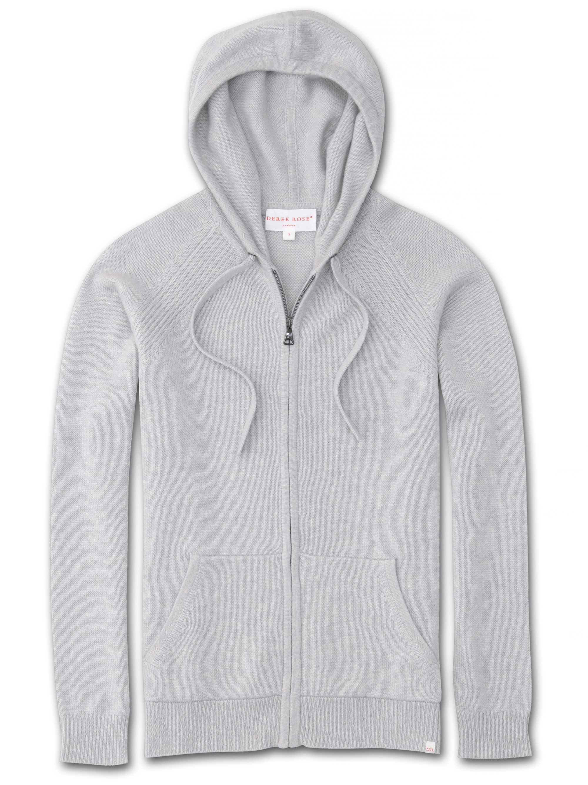 Women's Cashmere Hoodie Daphne Pure Cashmere Silver