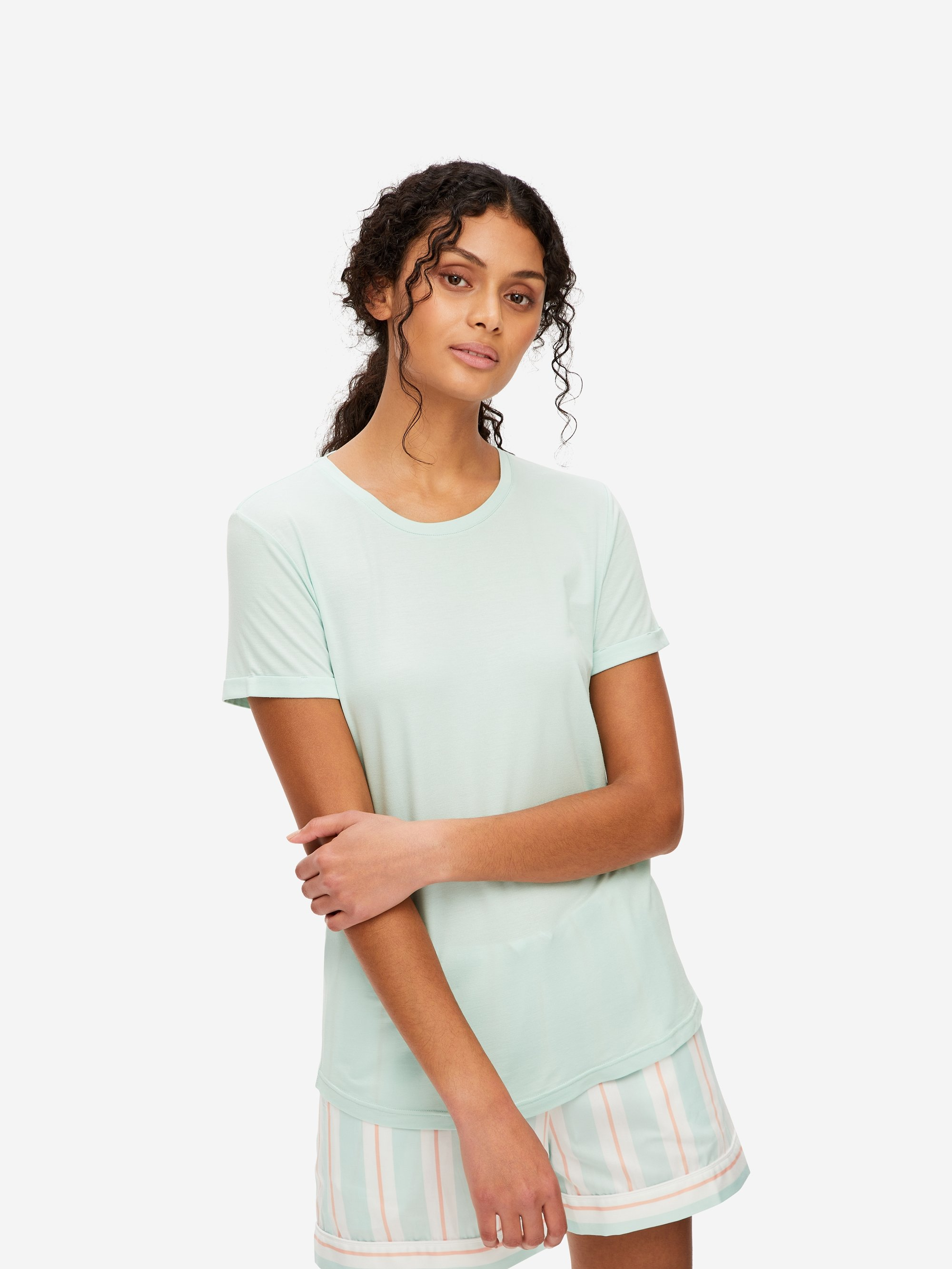 Women's Leisure T-Shirt Lara Micro Modal Stretch Mint