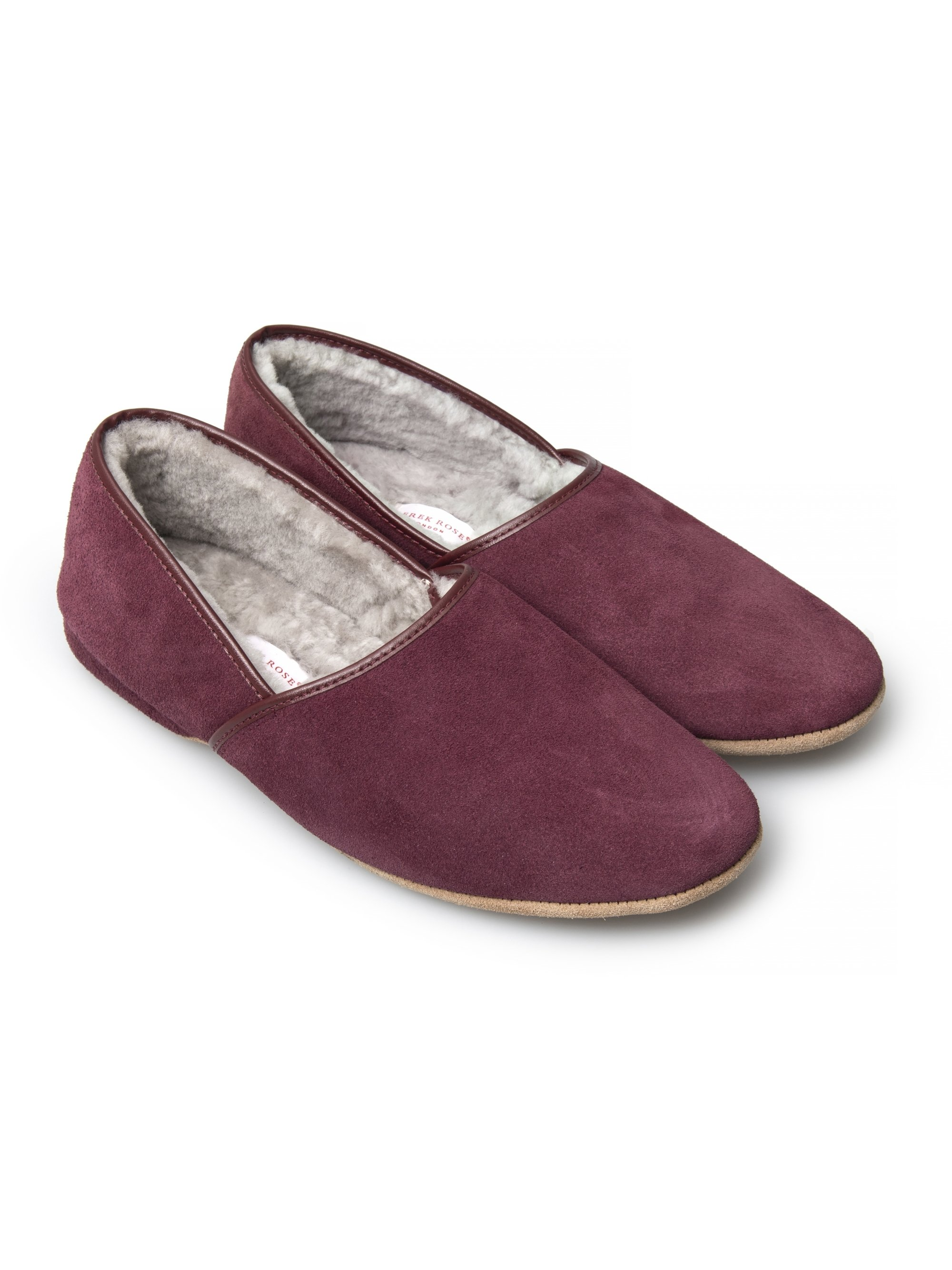 Men's Closed-Back Slipper Crawford Suede Sheepskin Bordeaux