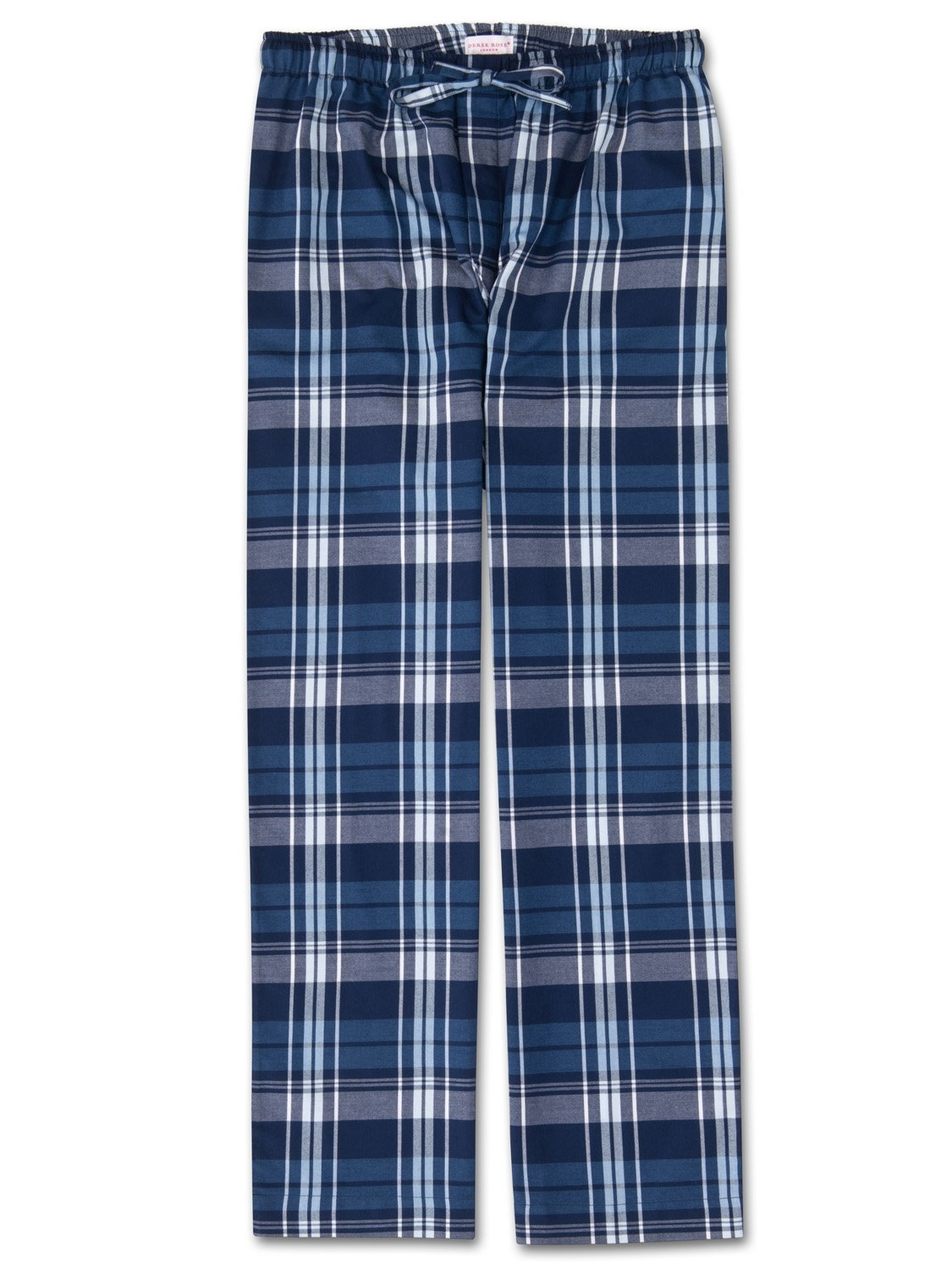 Men's Lounge Trousers Ranga 31 Brushed Cotton Check Navy