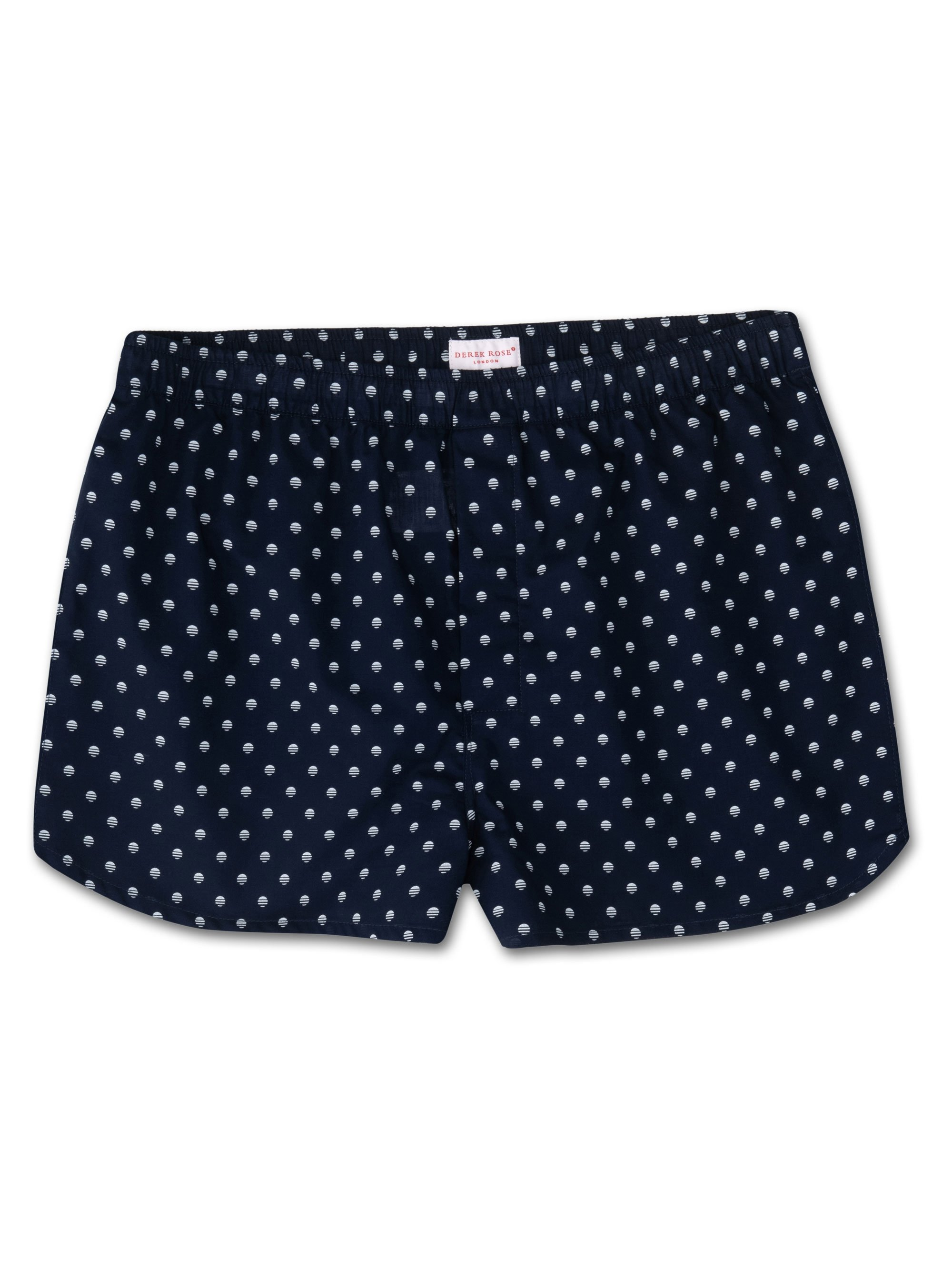 Men's Modern Fit Boxer Shorts Nelson 68 Cotton Batiste Navy