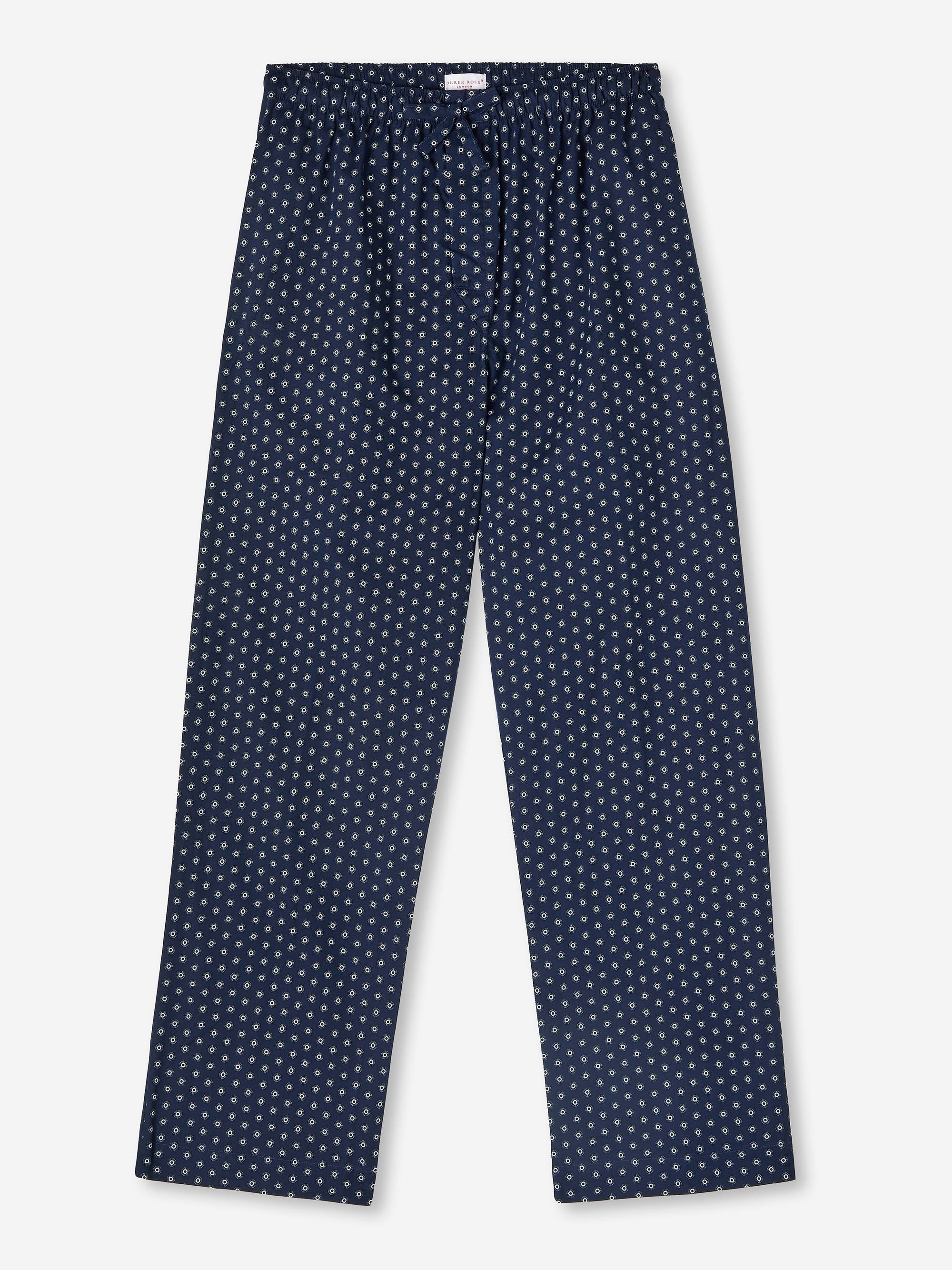 Men's Lounge Trousers Nelson 78 Cotton Batiste Navy