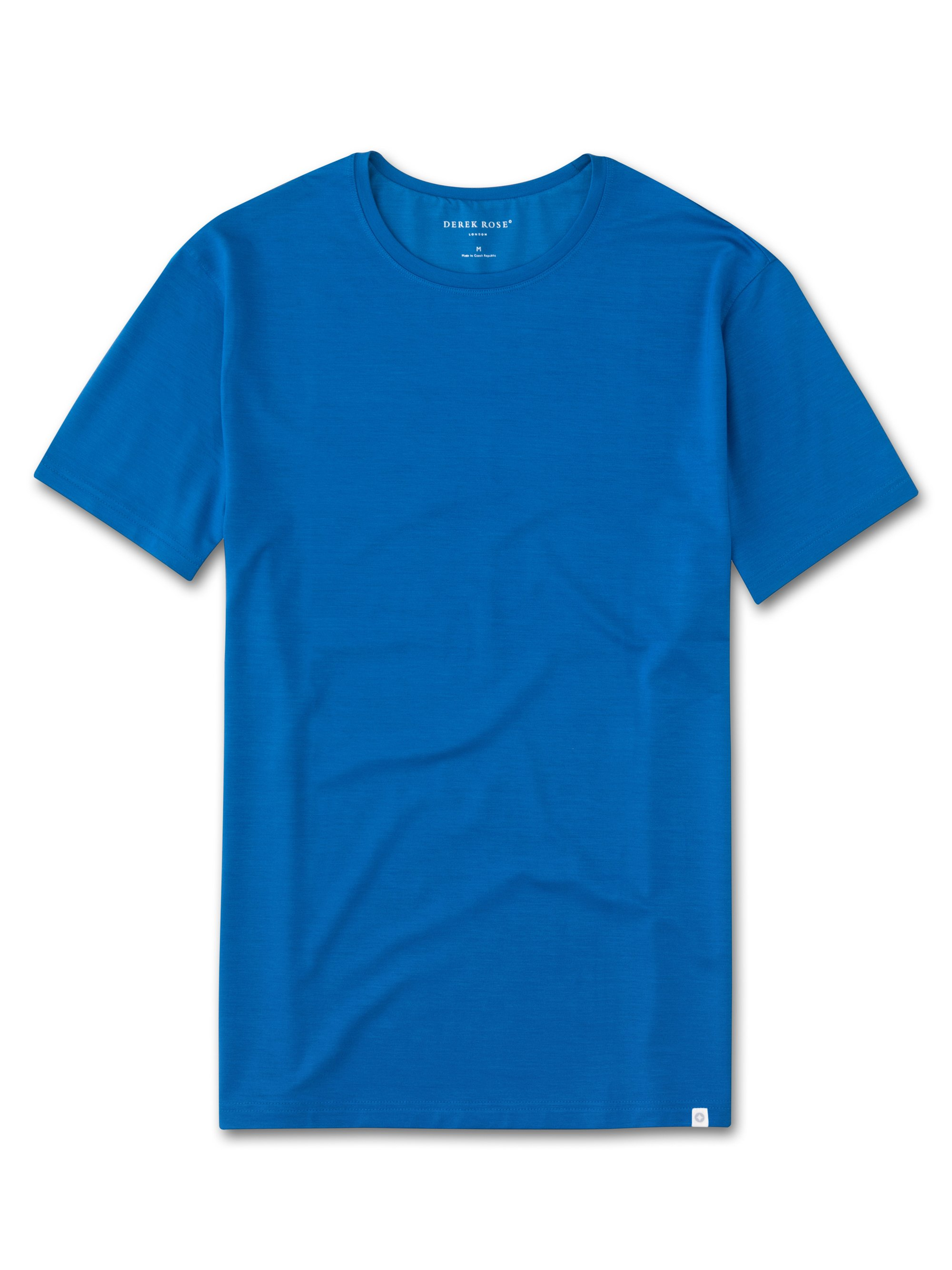 Men's Short Sleeve T-Shirt Basel 2 Micro Modal Stretch Blue