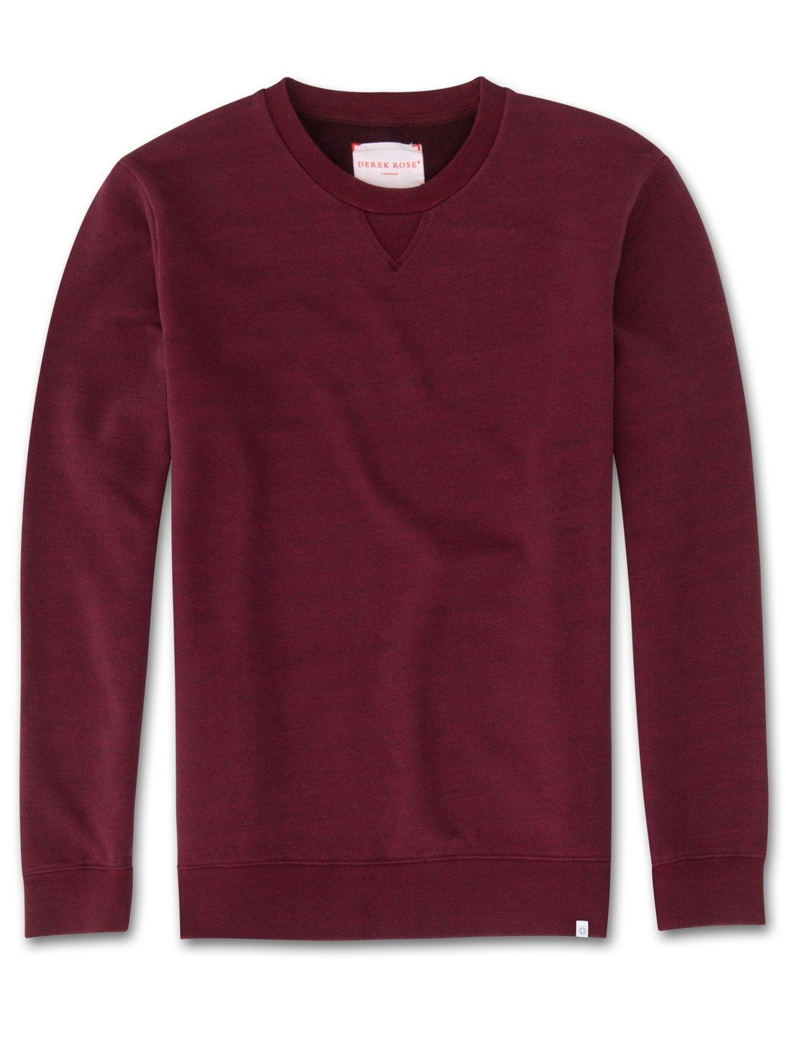 Men's Sweatshirt Devon Loopback Cotton Burgundy