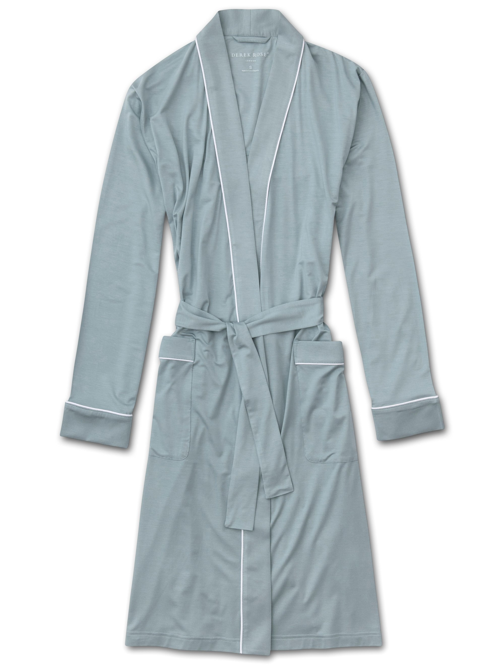Women's Jersey Dressing Gown Lara Micro Modal Stretch Blue