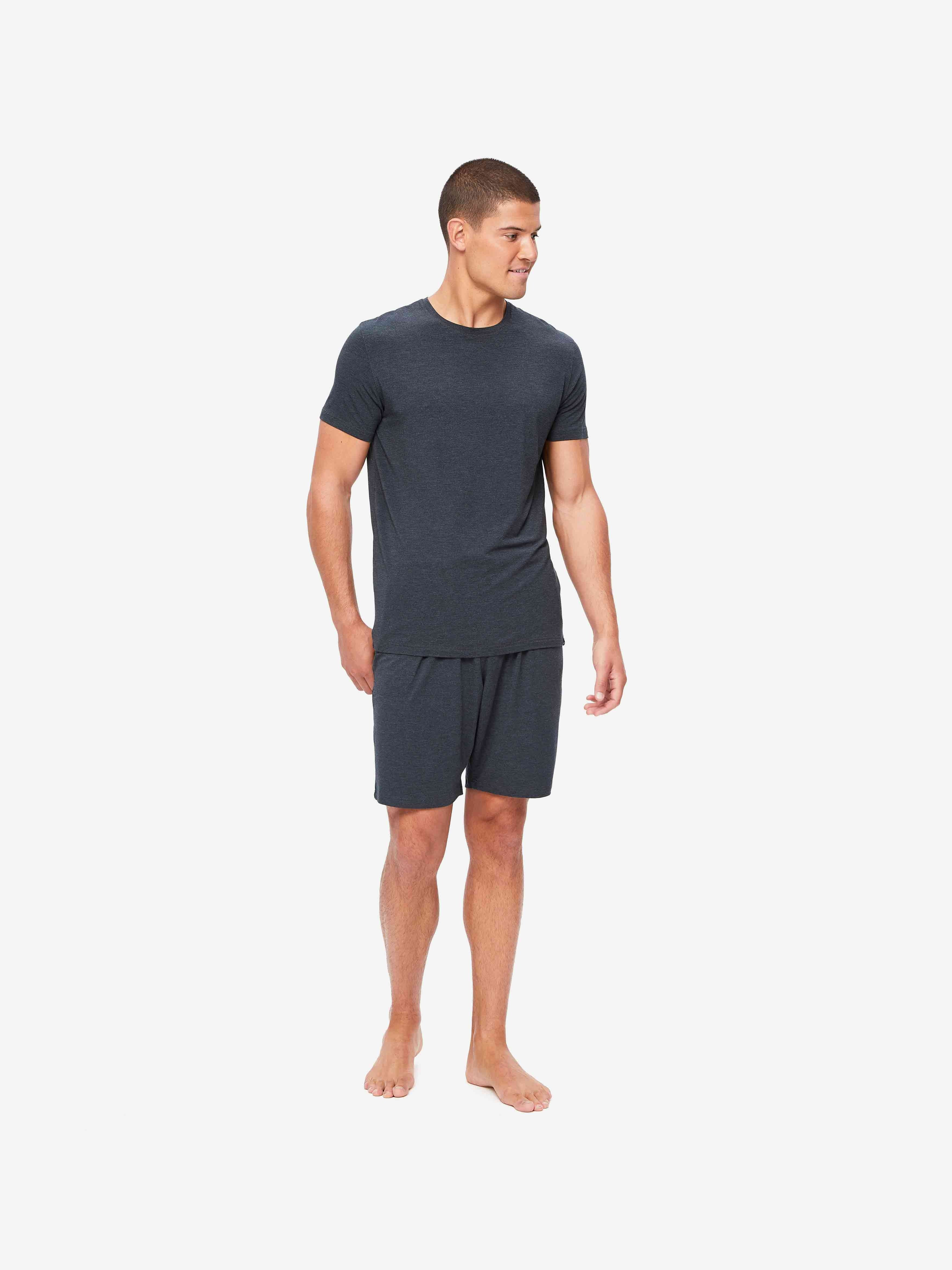 Men's T-Shirt Marlowe Micro Modal Stretch Anthracite
