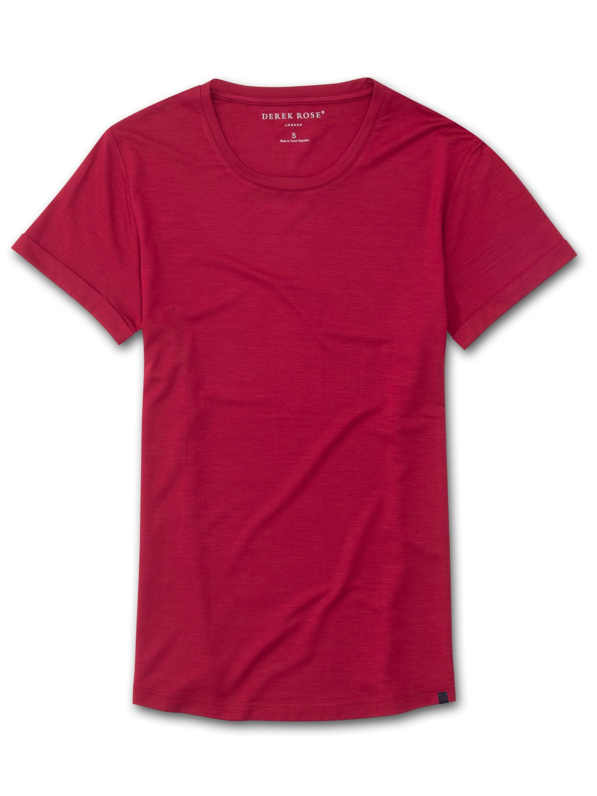 Women's Leisure T-Shirt Lara Micro Modal Stretch Crimson