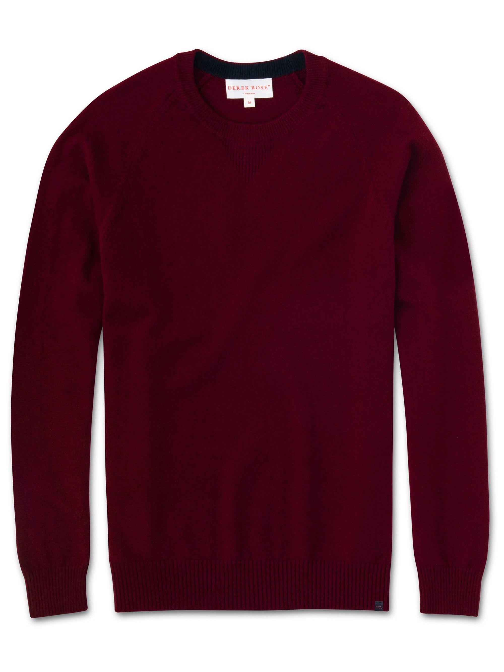 Men's Cashmere Sweater Finley 3 Pure Cashmere Burgundy