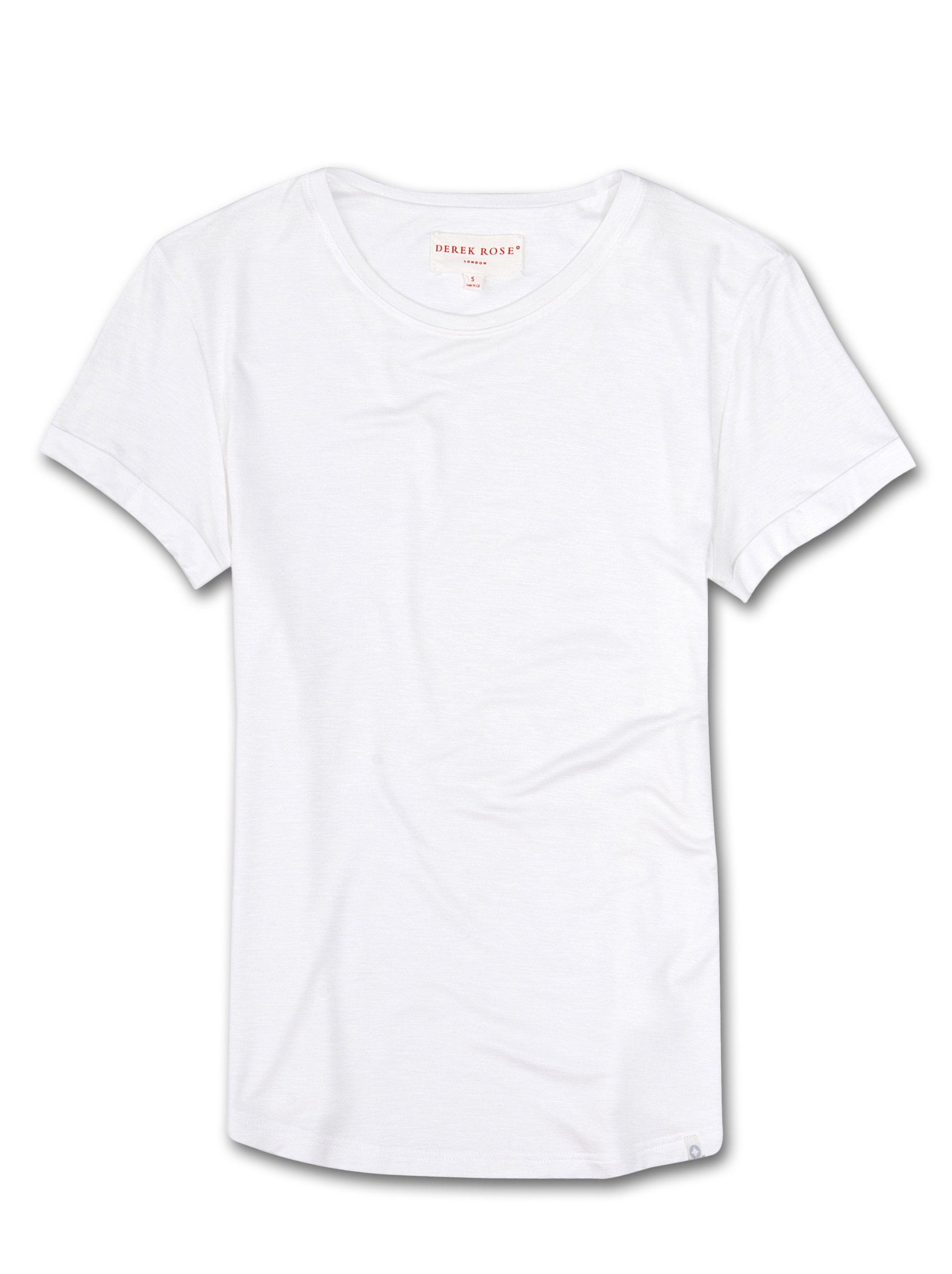 Women's Leisure T-Shirt Carla Micro Modal Stretch White