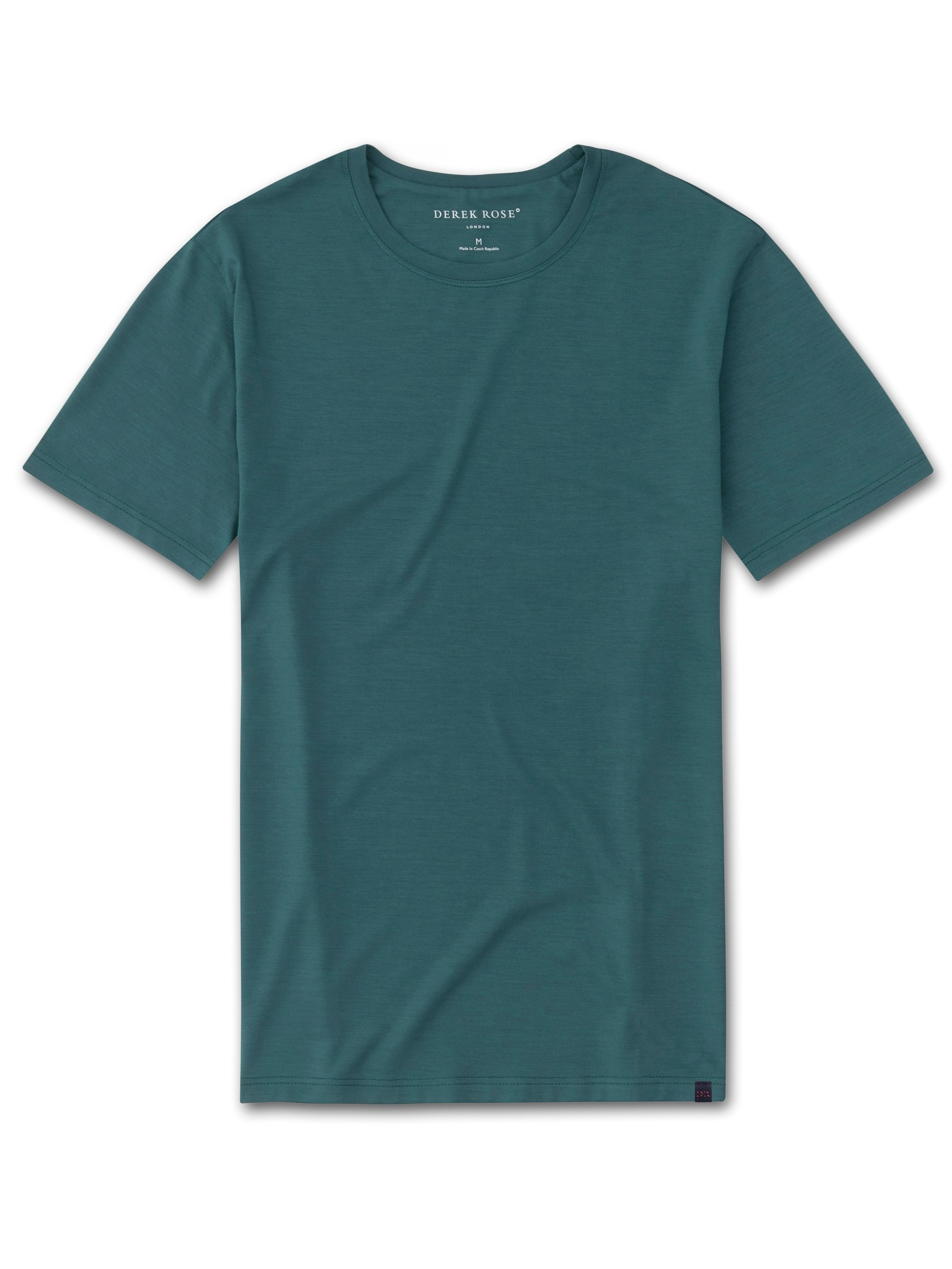 Men's Short Sleeve T-Shirt Basel 8 Micro Modal Stretch Green