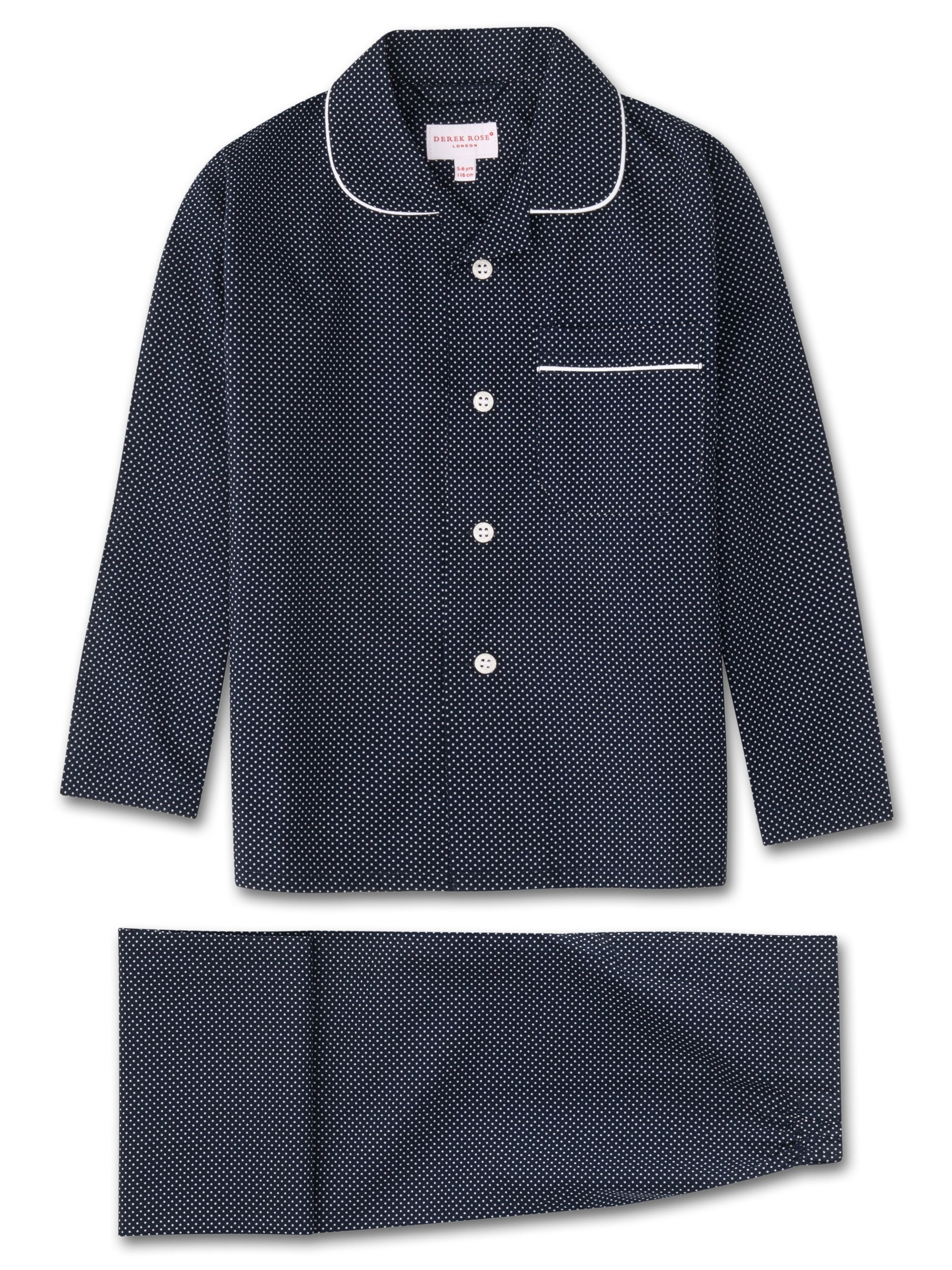 Kids' Pyjamas Plaza 21 Cotton Batiste Navy