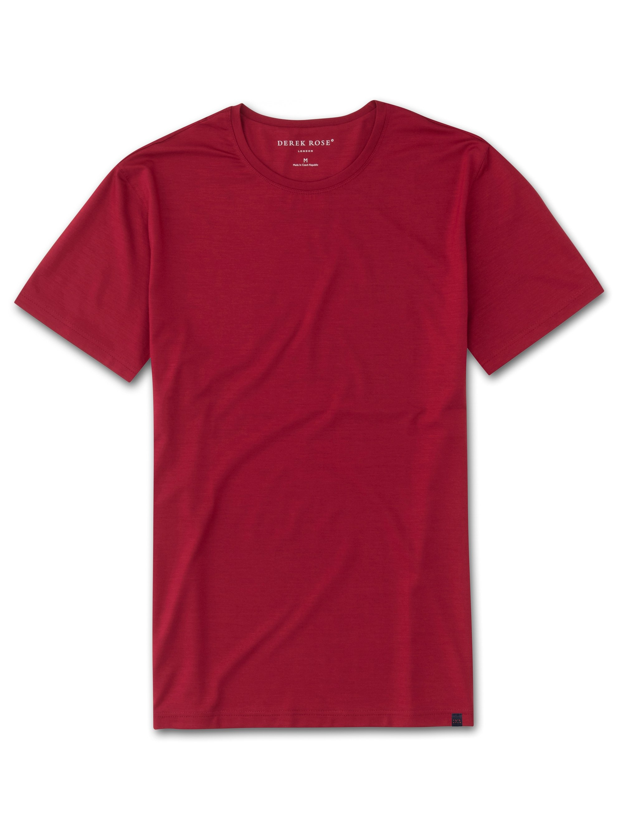 Men's Short Sleeve T-Shirt Basel 8 Micro Modal Stretch Red