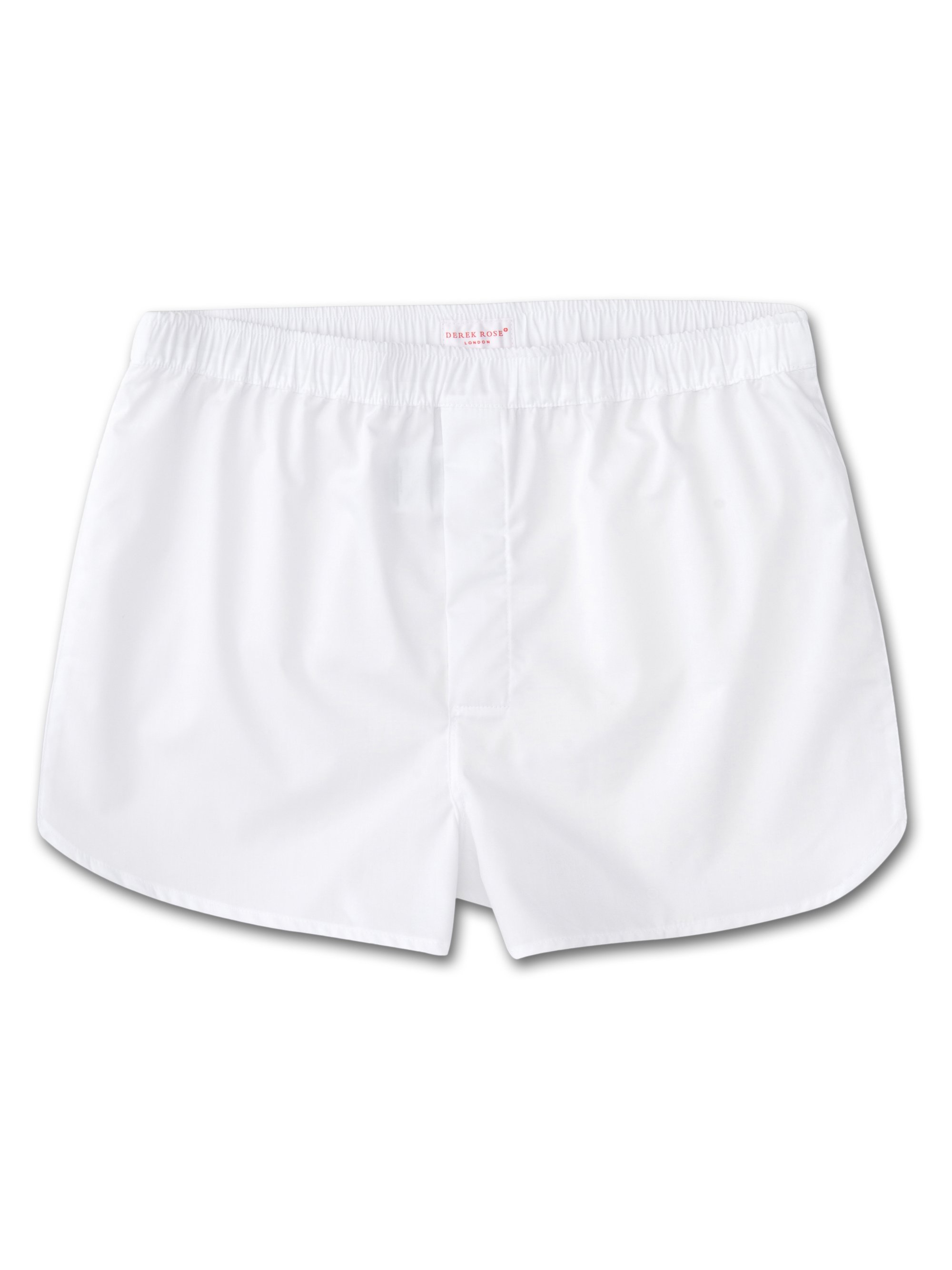 Men's Modern Fit Boxer Shorts Savoy Pure Cotton White