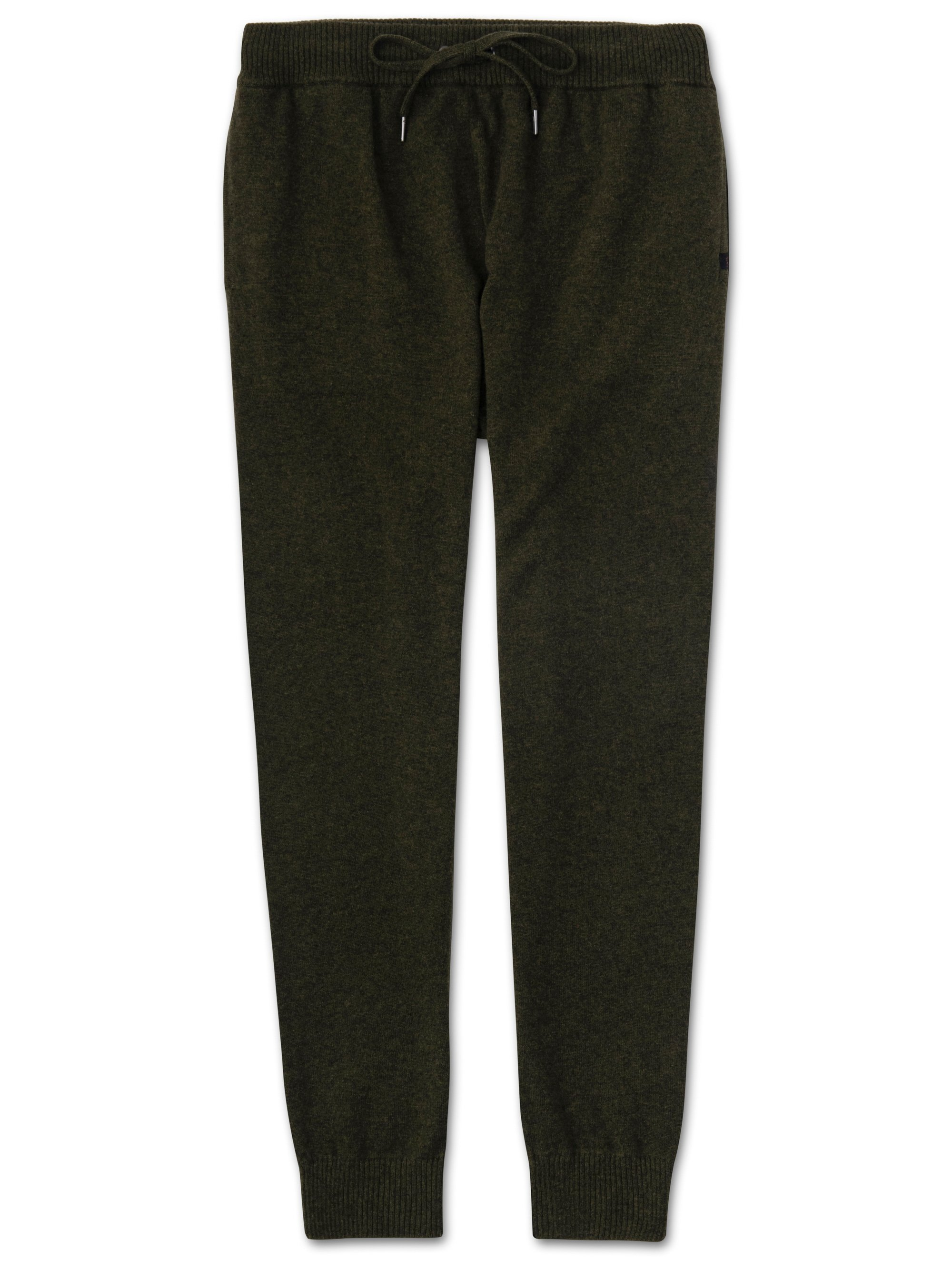 Men's Cashmere Track Pants Finley 3 Pure Cashmere Green