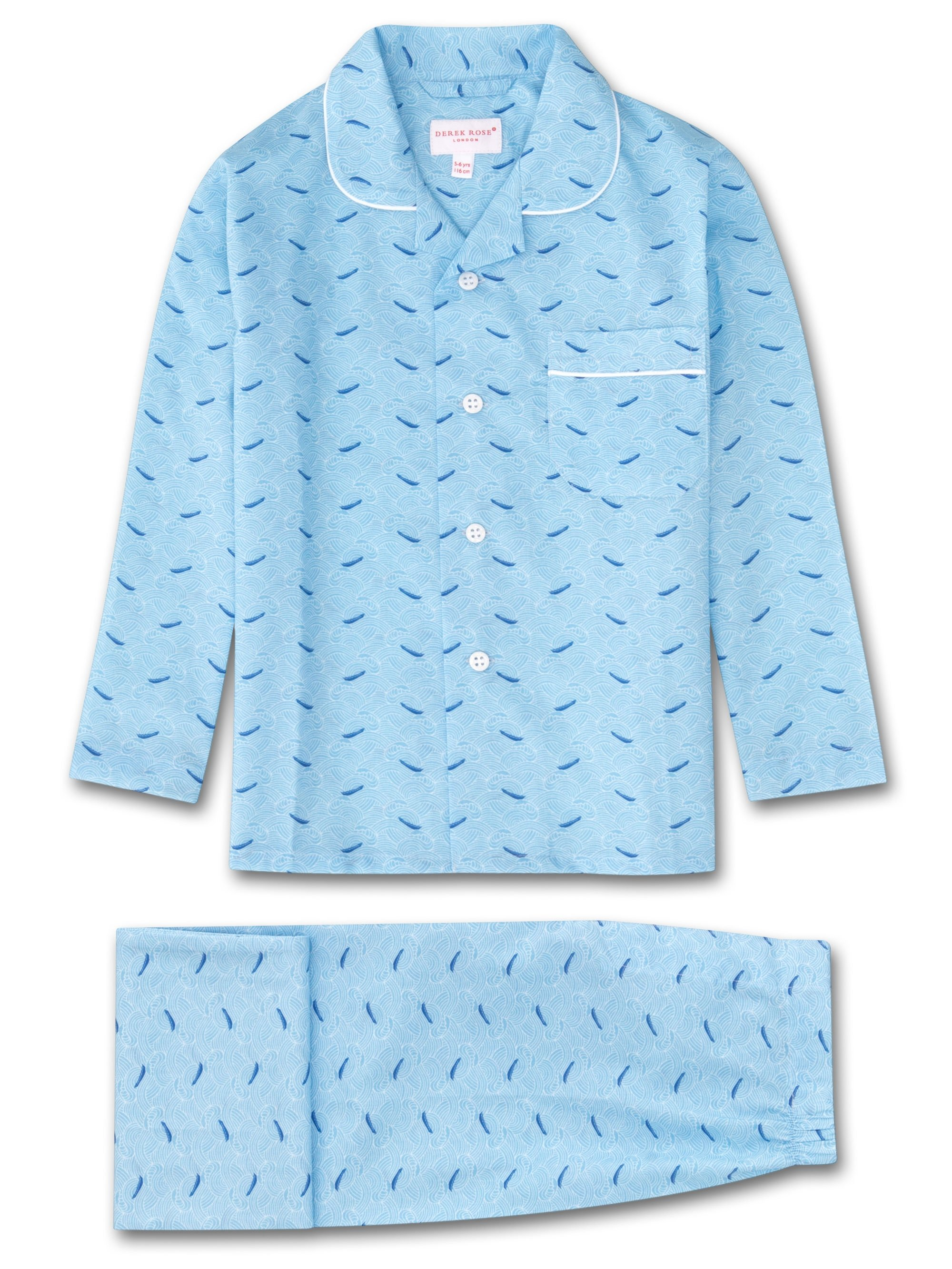 Kids' Pyjamas Ledbury 12 Cotton Batiste Blue