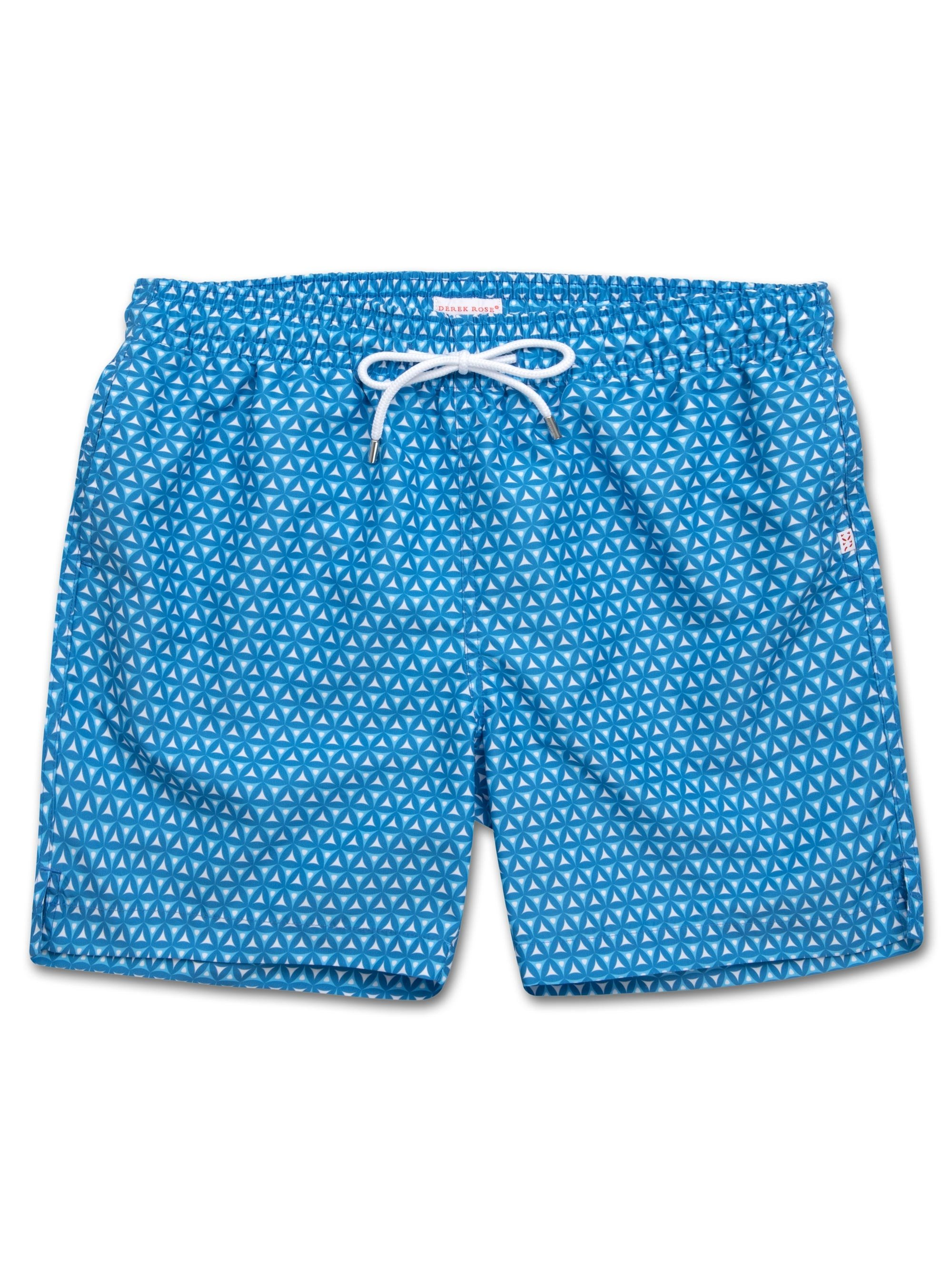 Men's Classic Fit Swim Shorts Tropez 6 Blue
