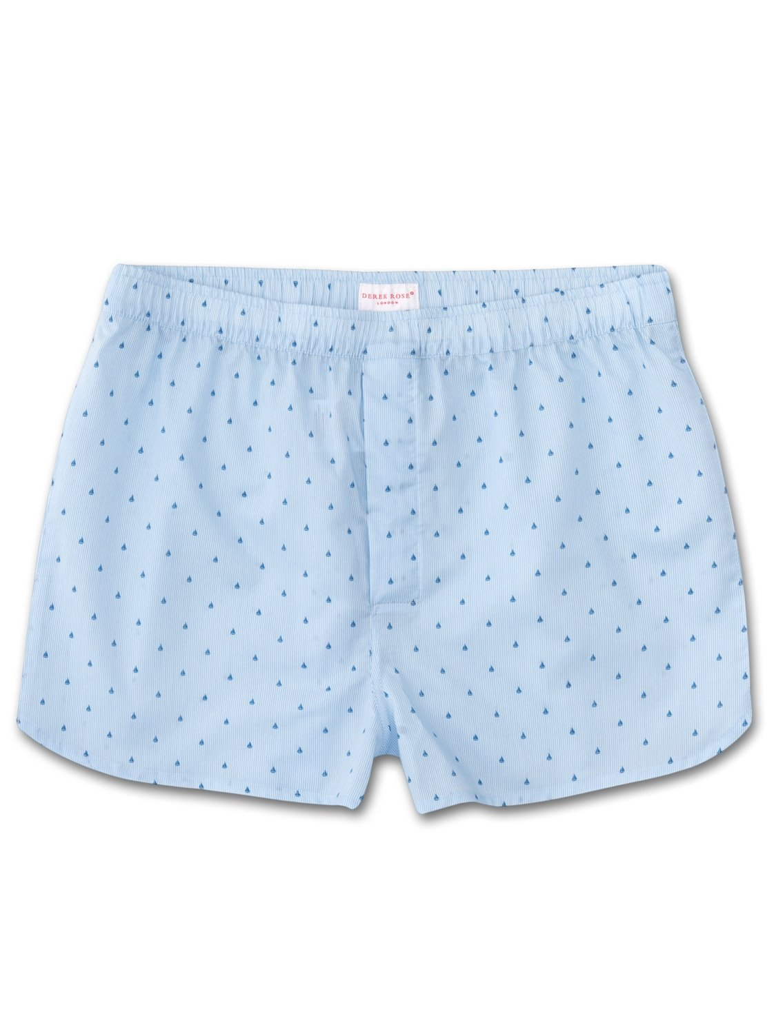 Men's Modern Fit Boxer Shorts Nelson 63 Cotton Batiste Blue
