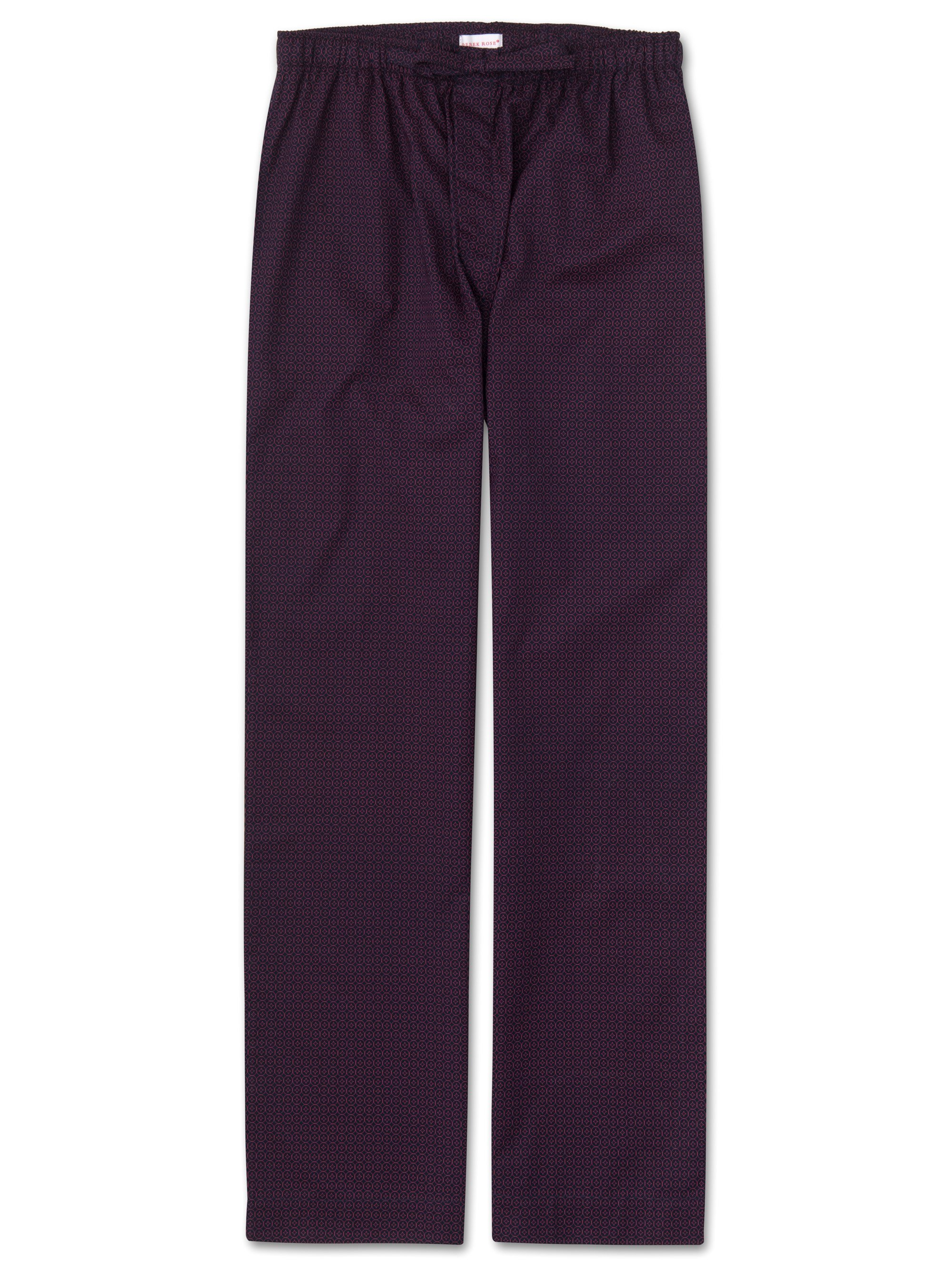 Men's Lounge Trousers Nelson 60 Cotton Batiste Navy