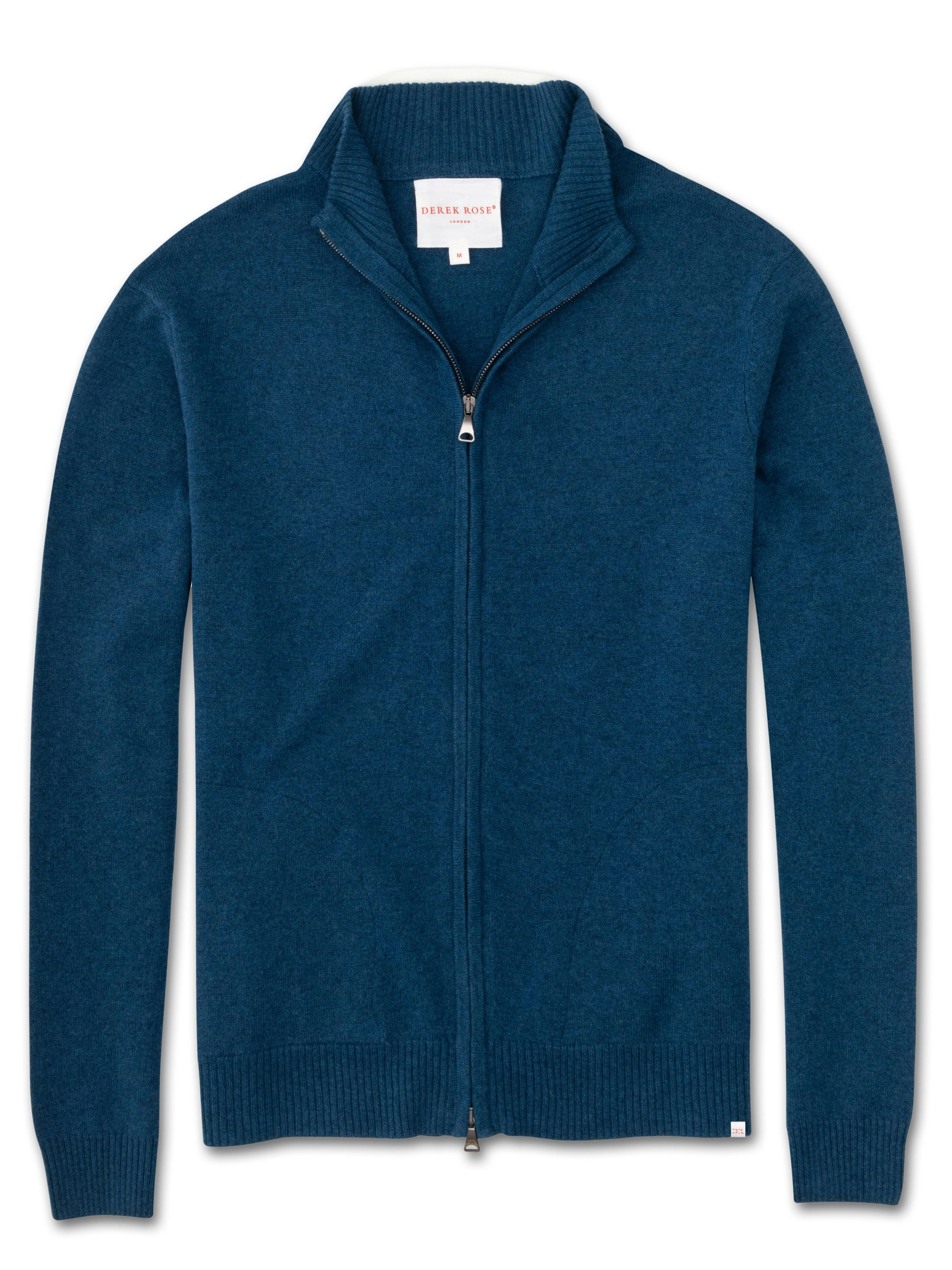 Men's Cashmere Zip-Up Top Finley Pure Cashmere Ocean