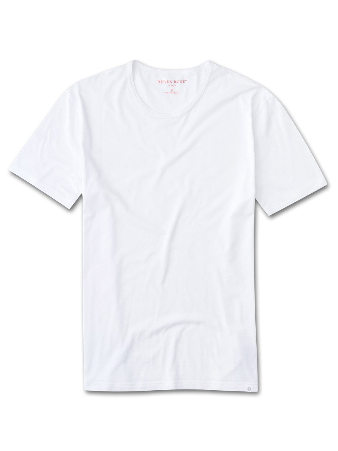 Men's Short Sleeve T-Shirt Riley Pima Cotton White