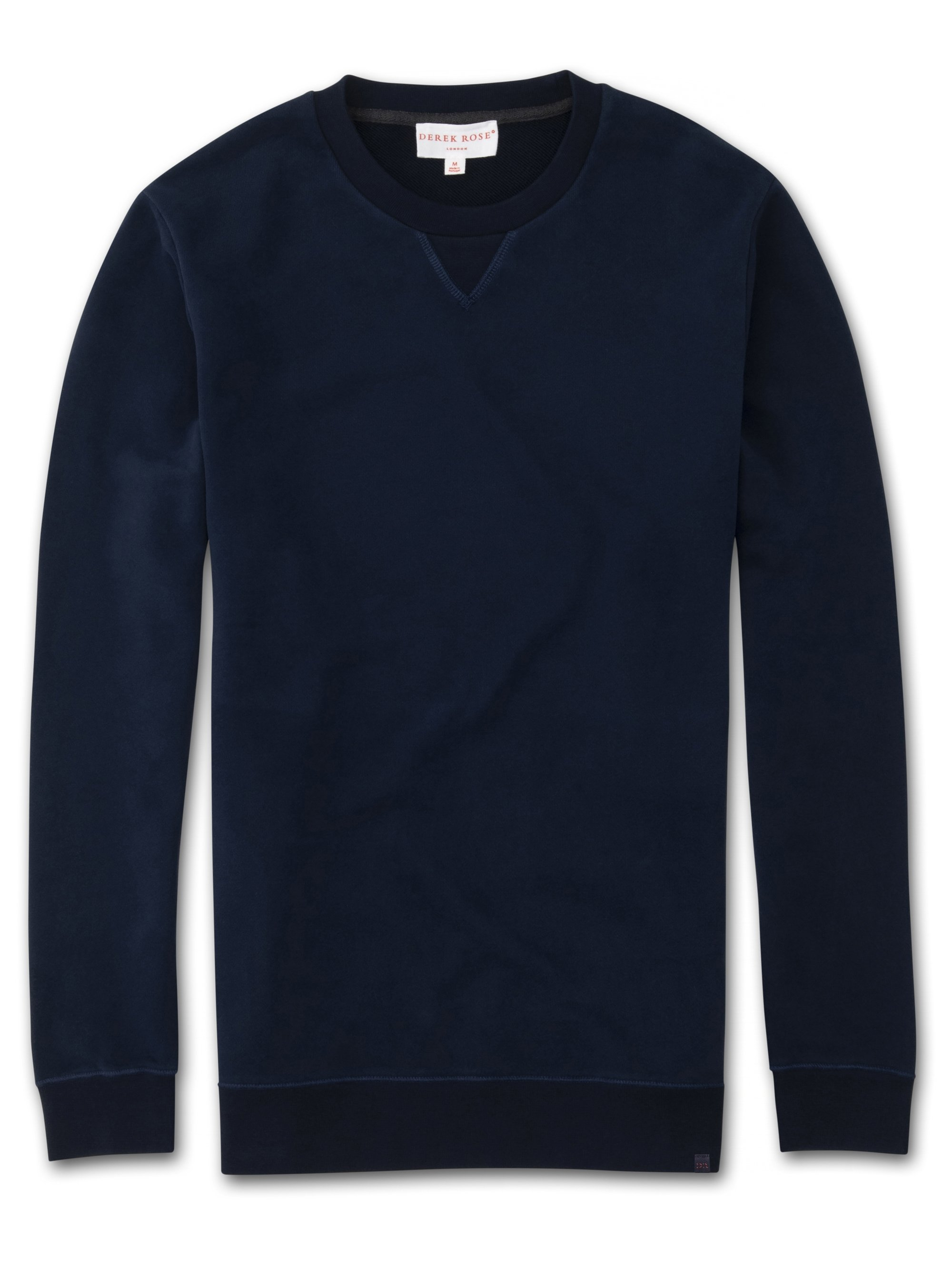 Men's Sweatshirt Devon 2 Loopback Cotton Navy