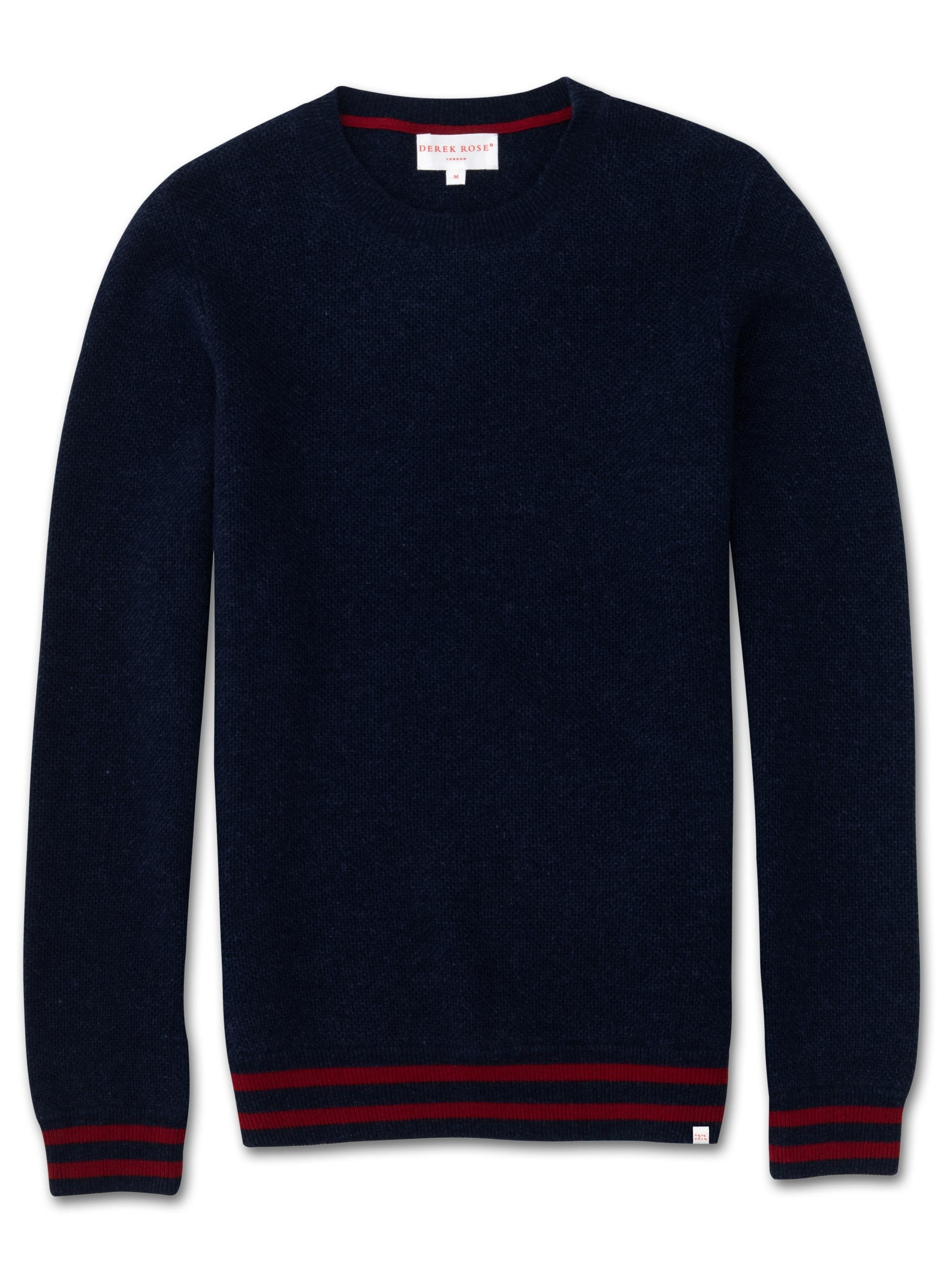 Men's Cashmere Sweater Felix 2 Pure Cashmere Midnight
