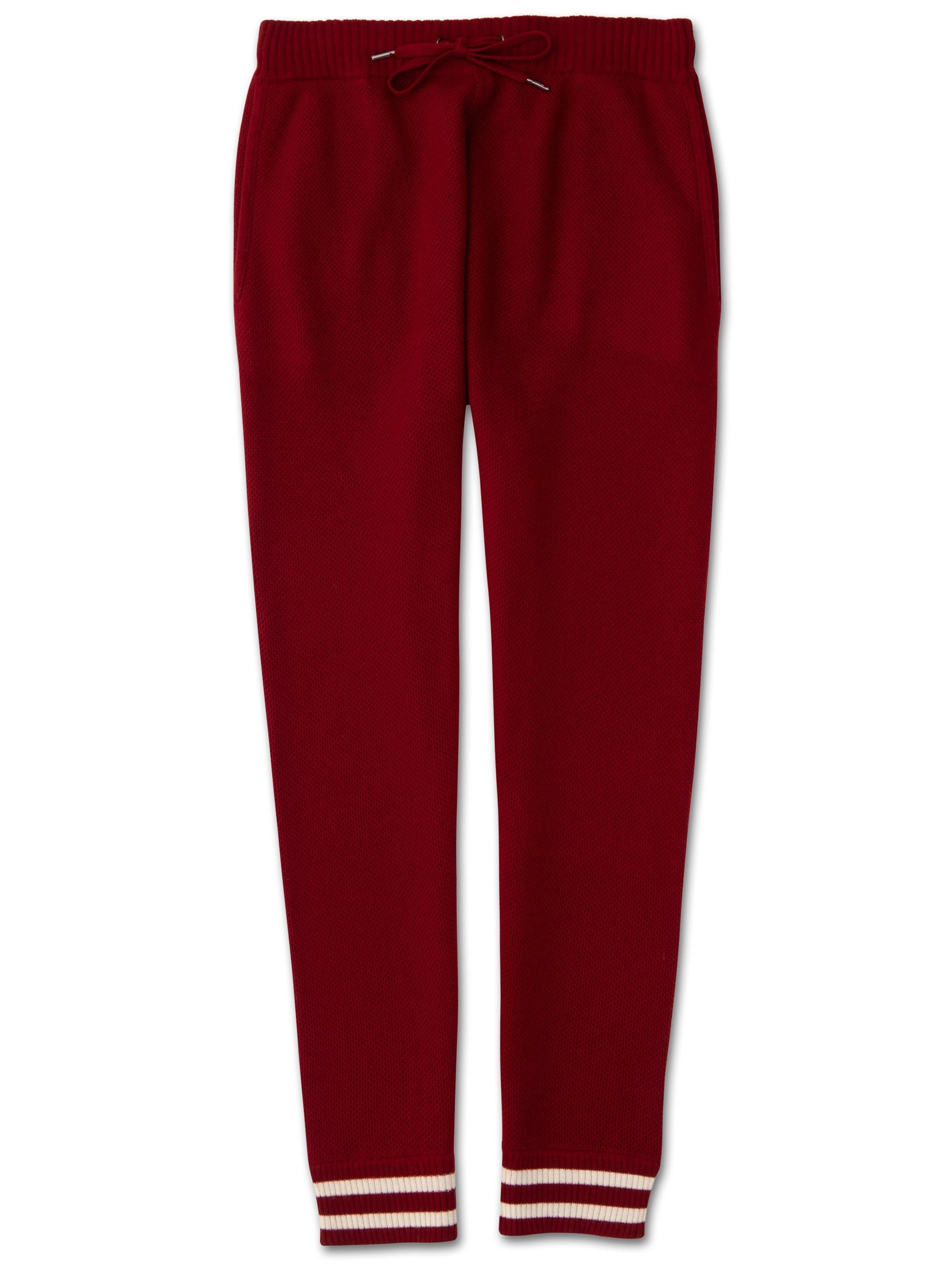 Men's Cashmere Track Pants Felix 2 Pure Cashmere Red