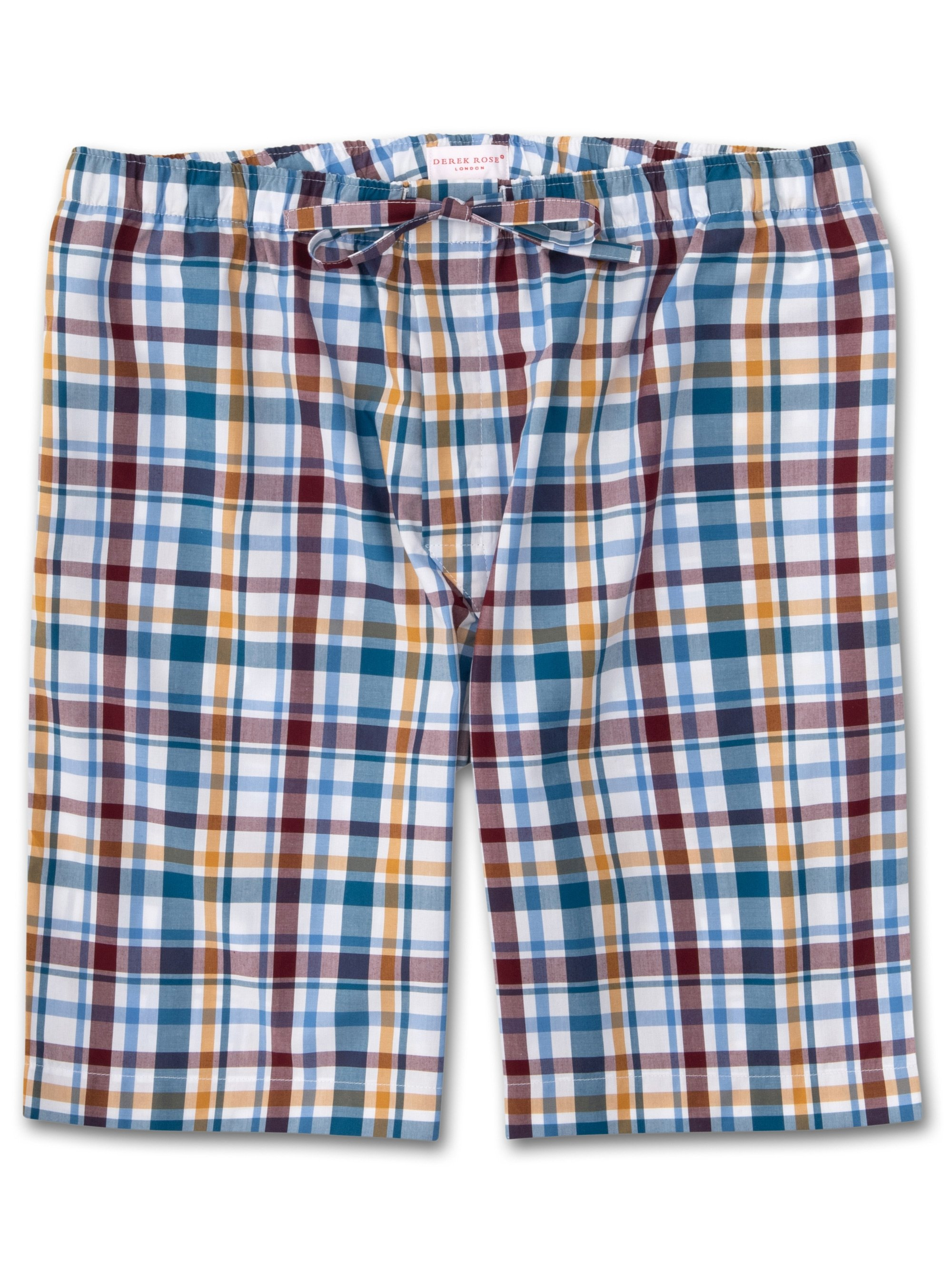 Men's Lounge Shorts Barker 25 Cotton Check Multi